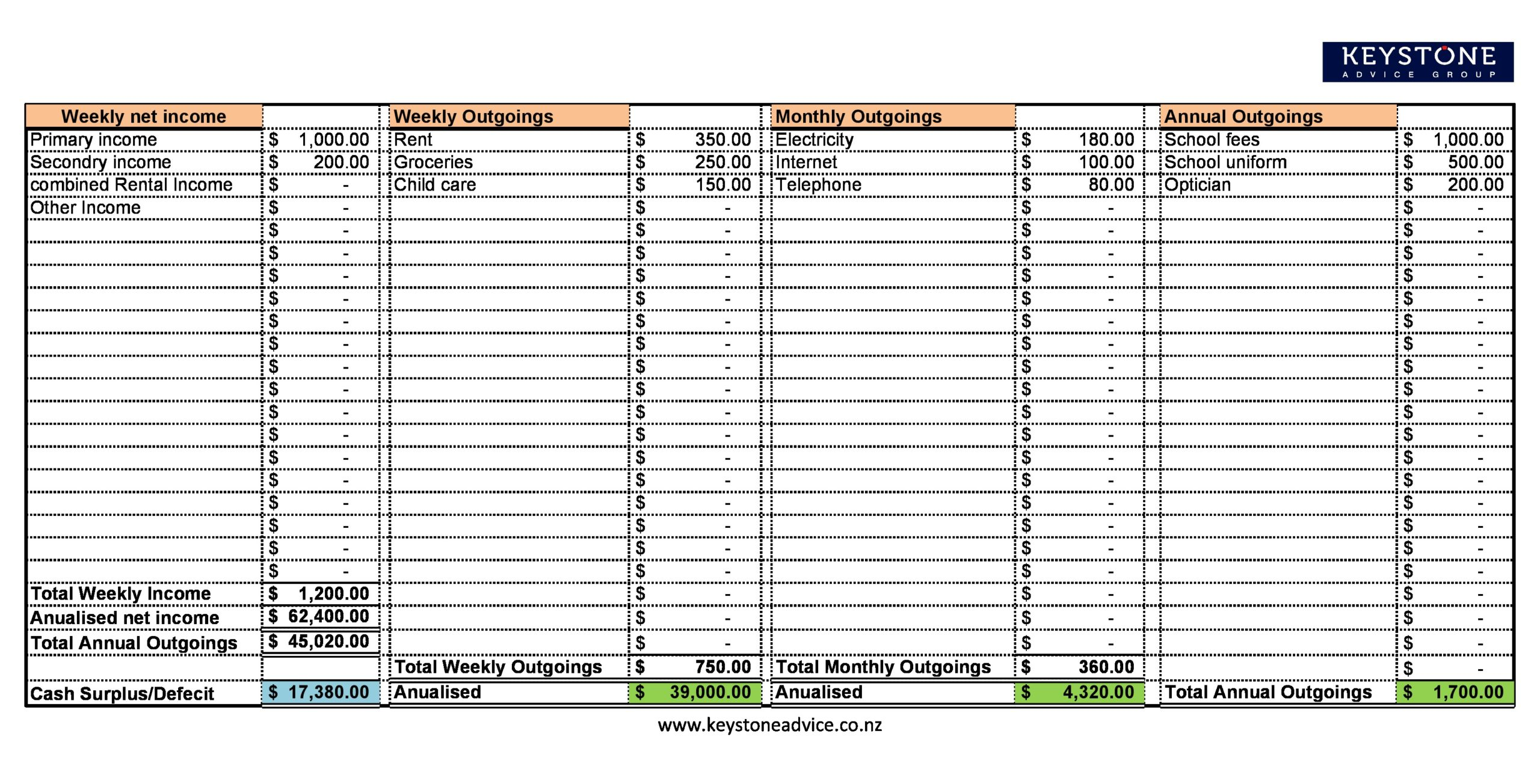 personal budget spreadsheet 06