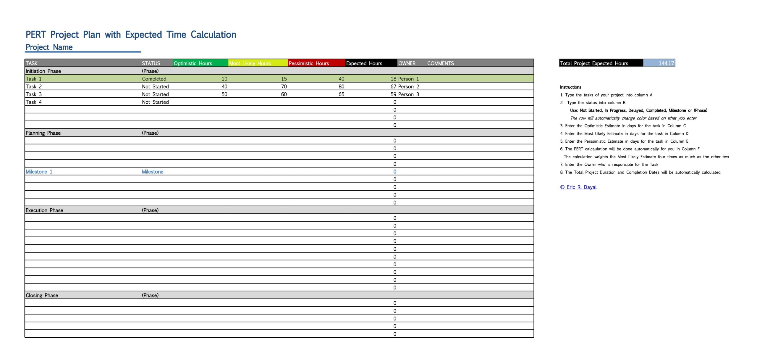 project plan example 13