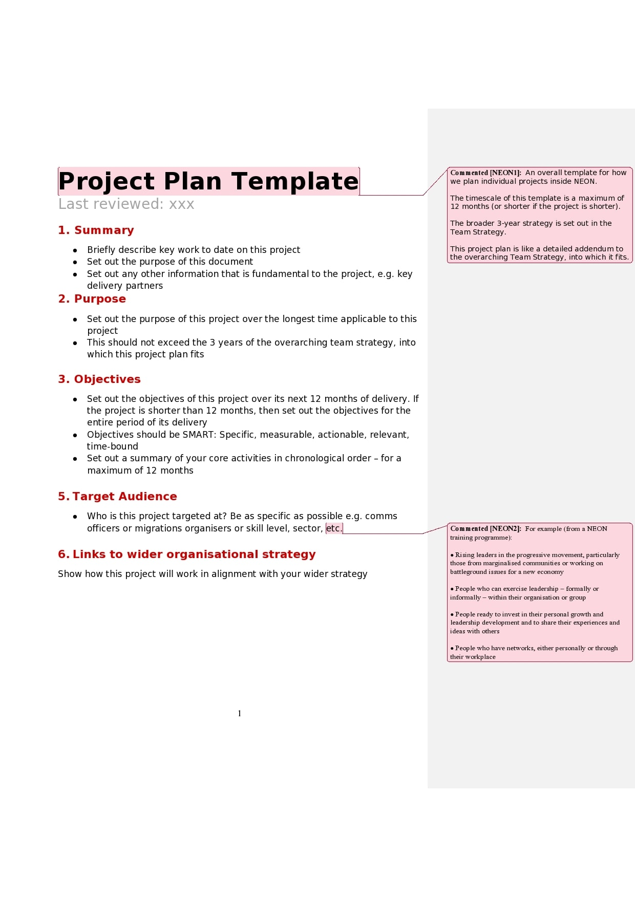 project plan example 18