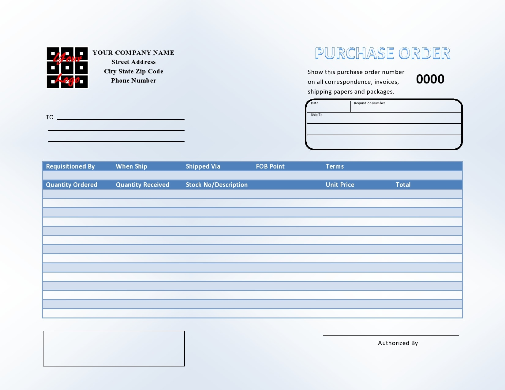 purchase order template 03