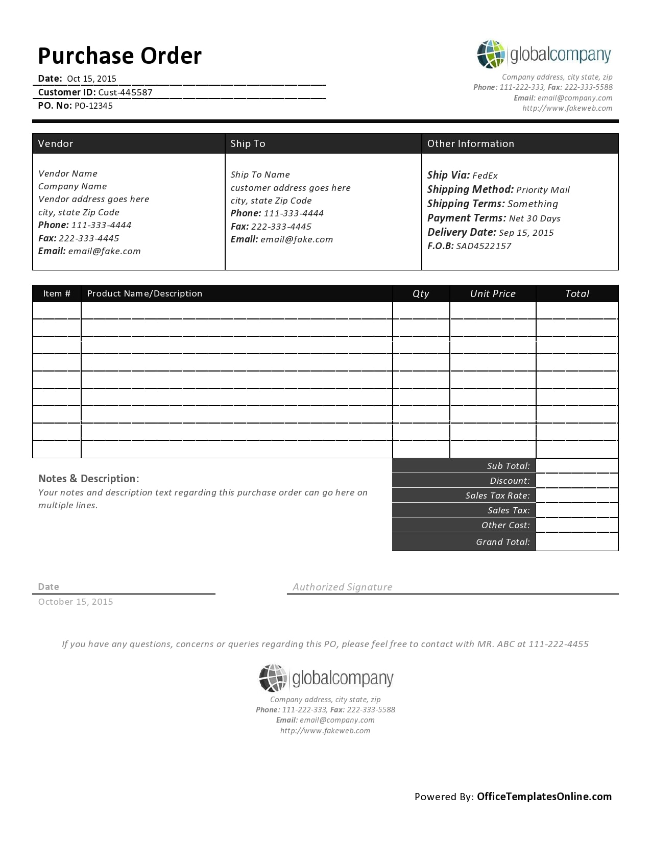 purchase order template 07