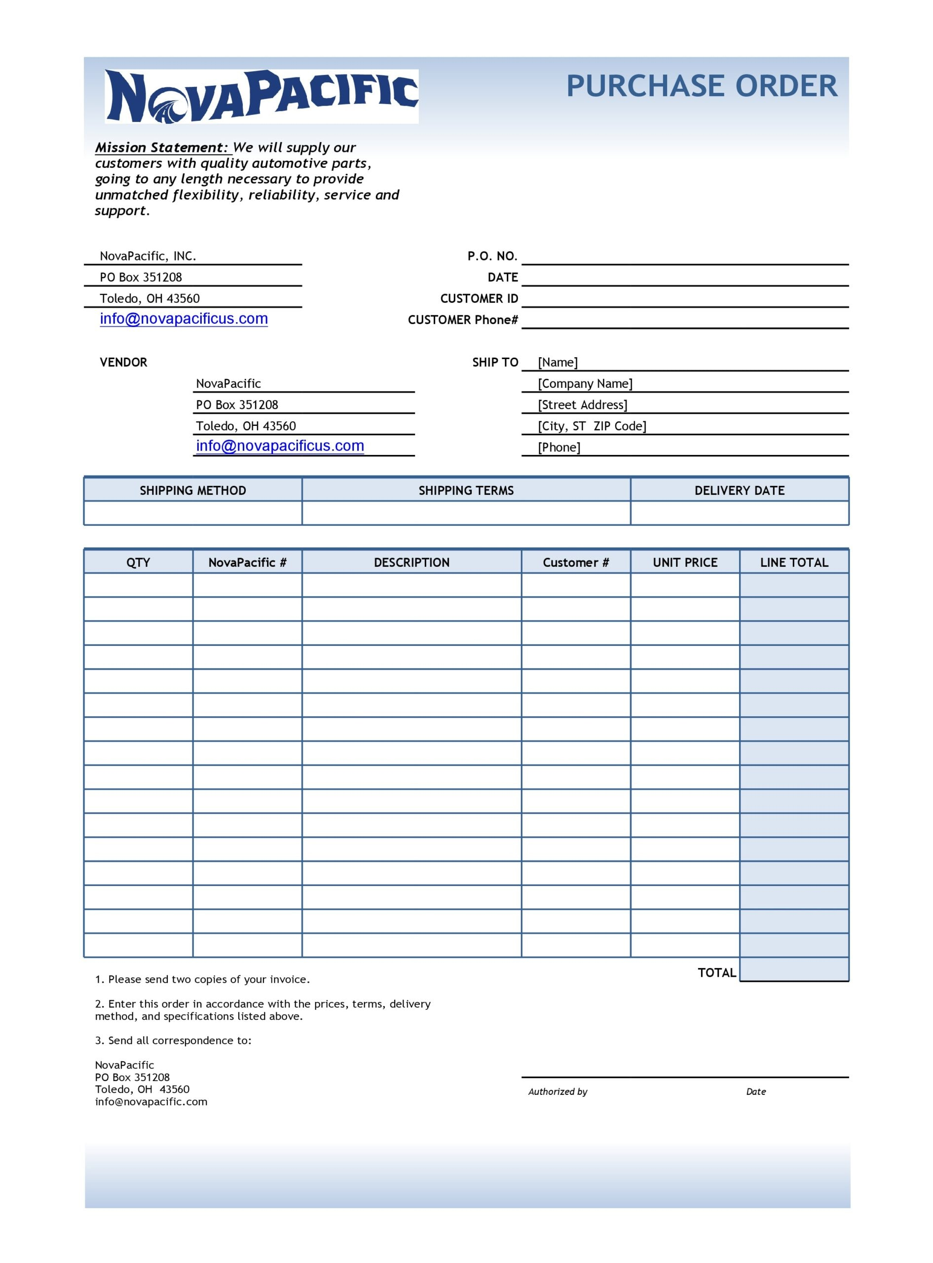 purchase order template 20
