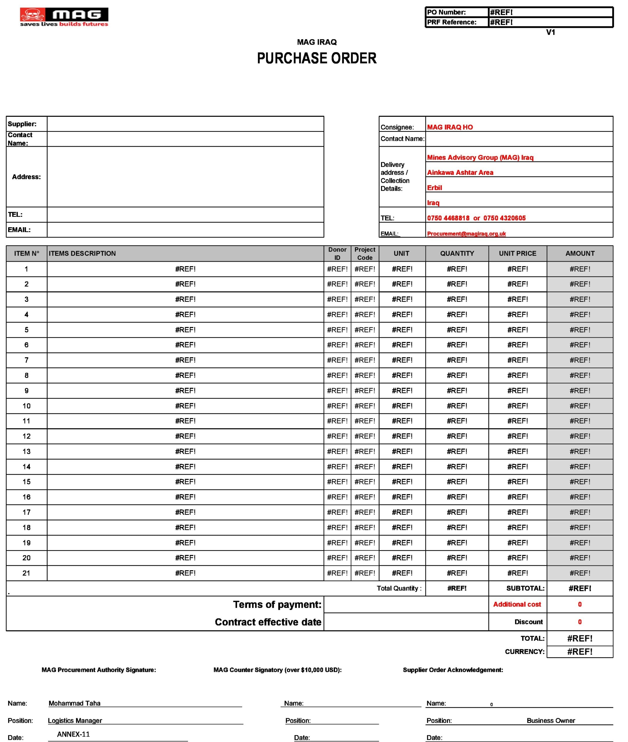 purchase order template 21