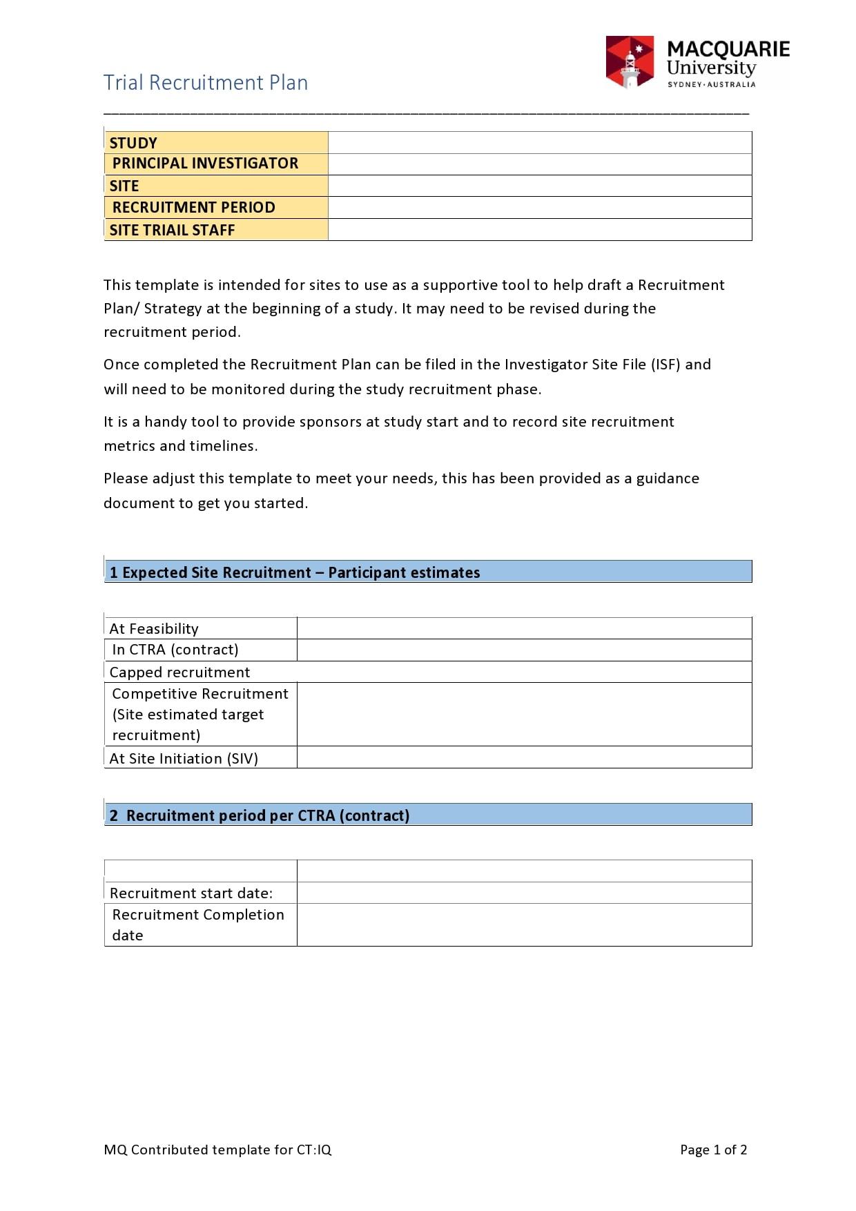 recruitment plan template 03