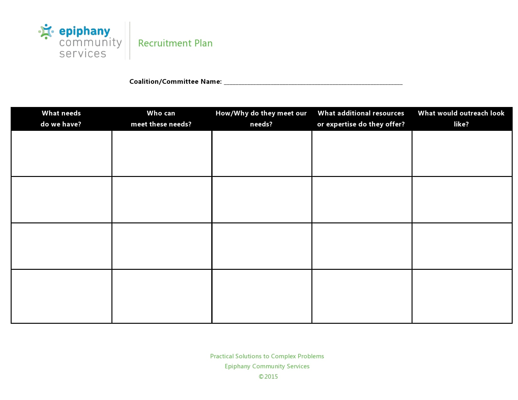 recruitment plan template 06