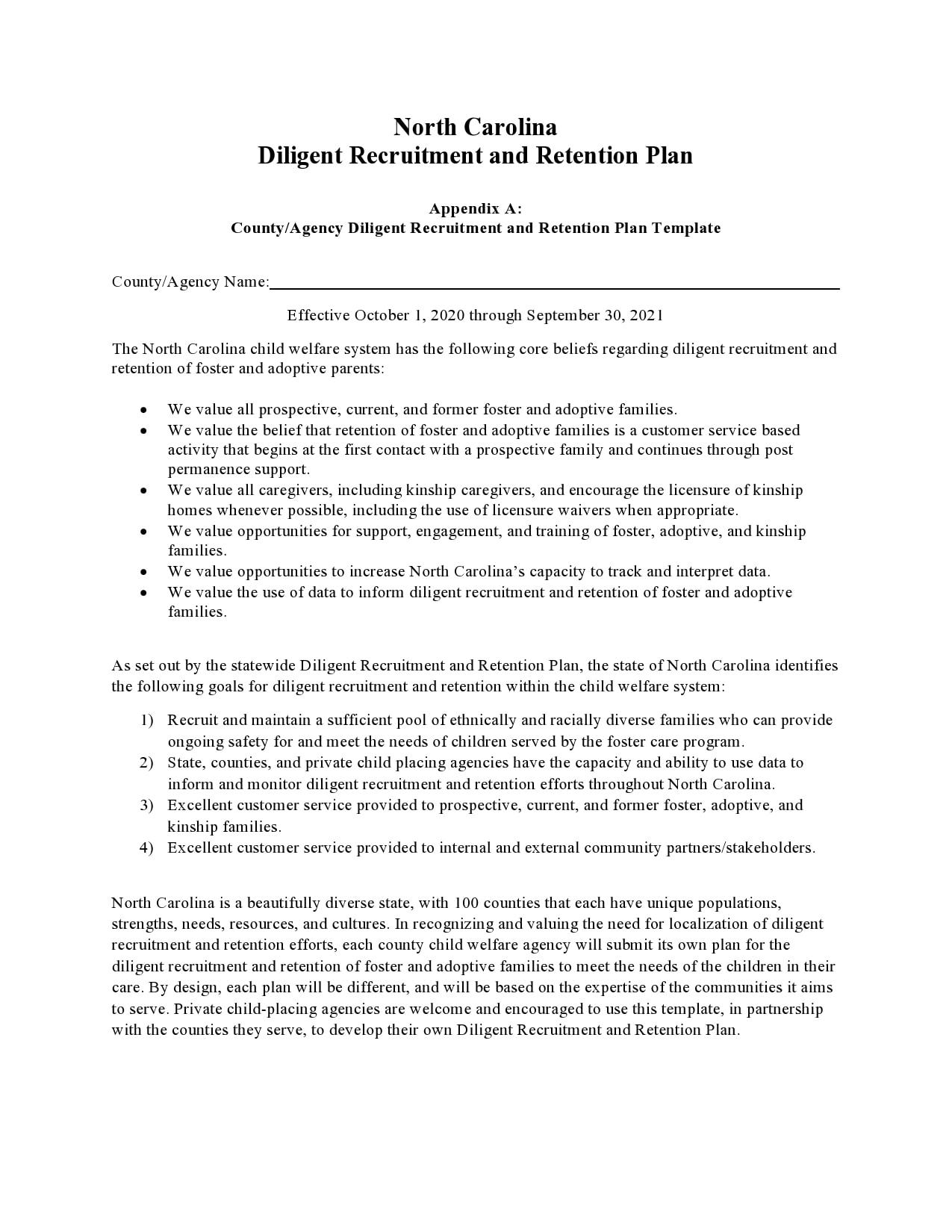 recruitment plan template 12