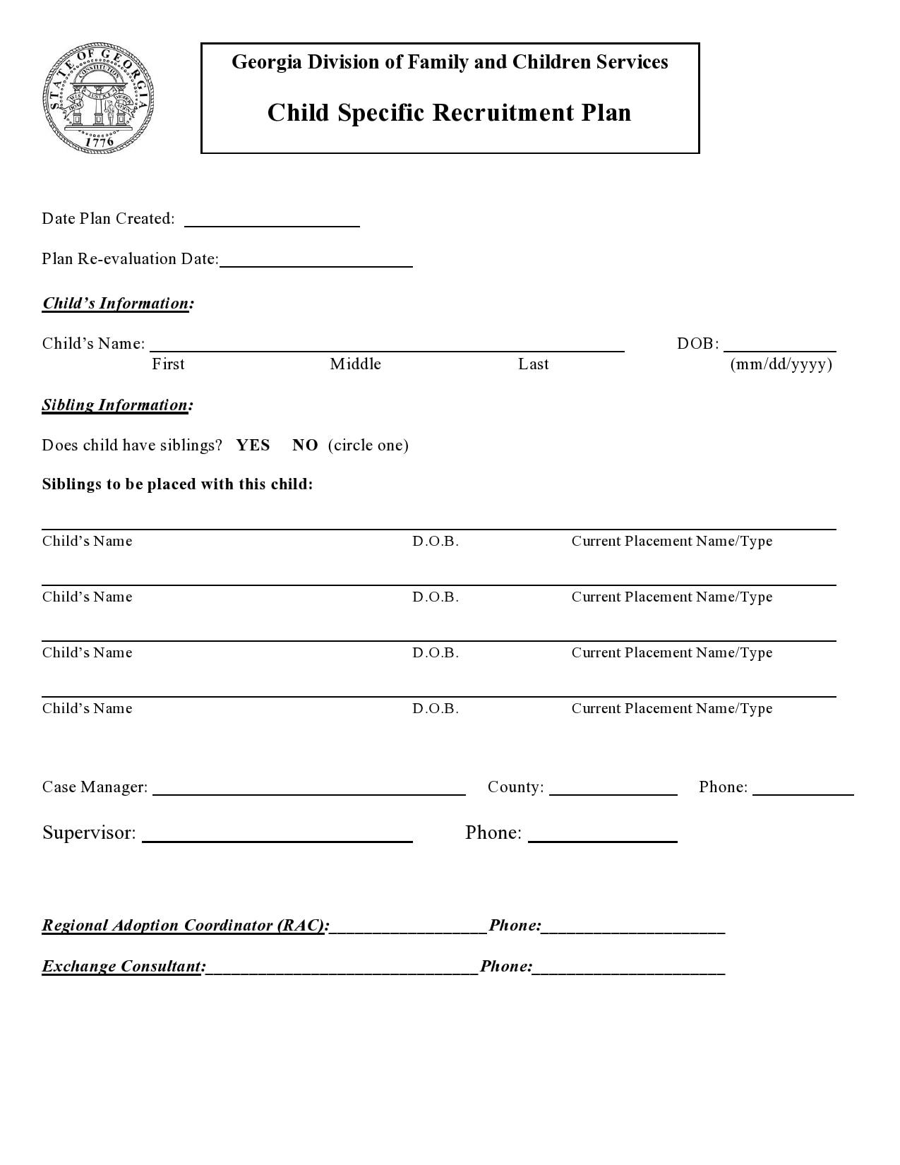recruitment plan template 15