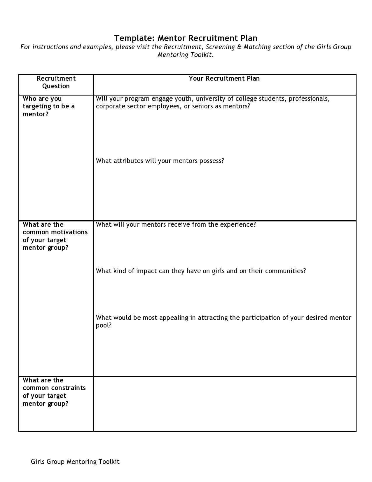 recruitment plan template 21