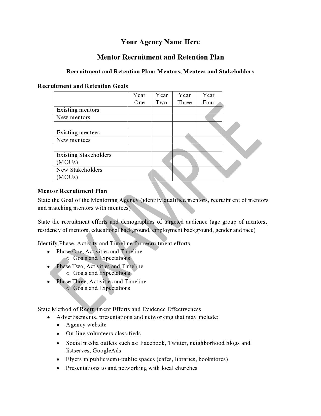 recruitment plan template 22