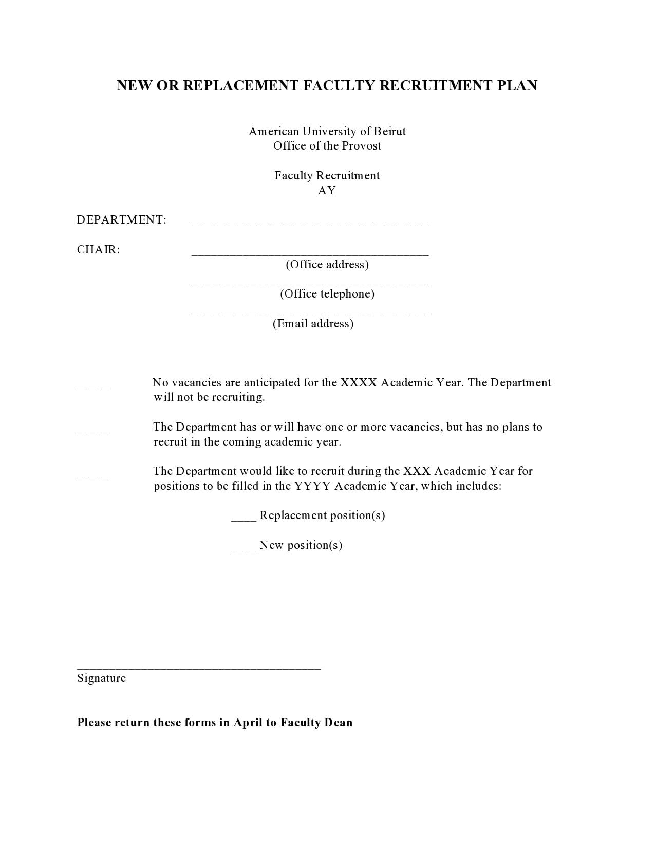 recruitment plan template 24