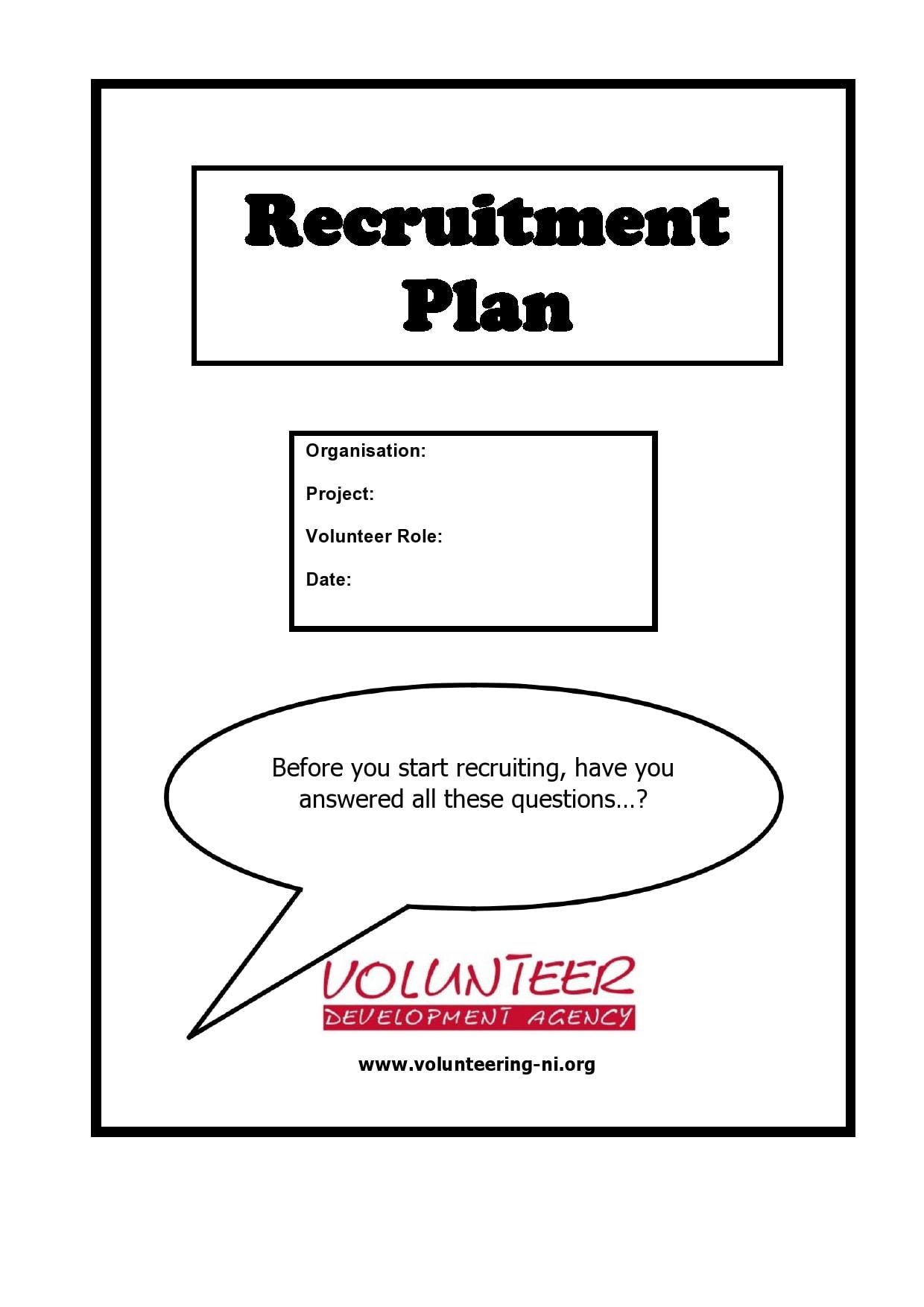 recruitment plan template 27