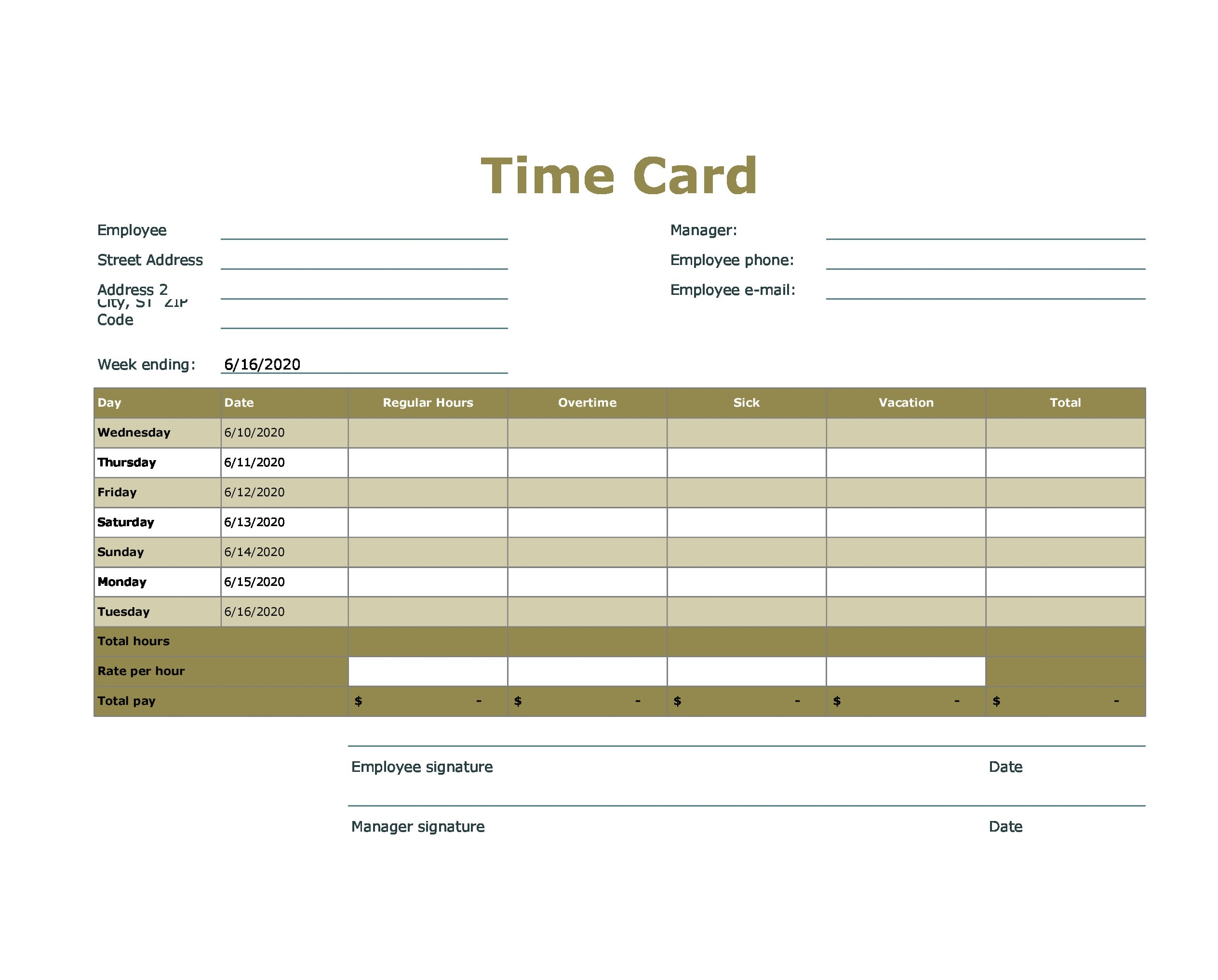 time card template 19