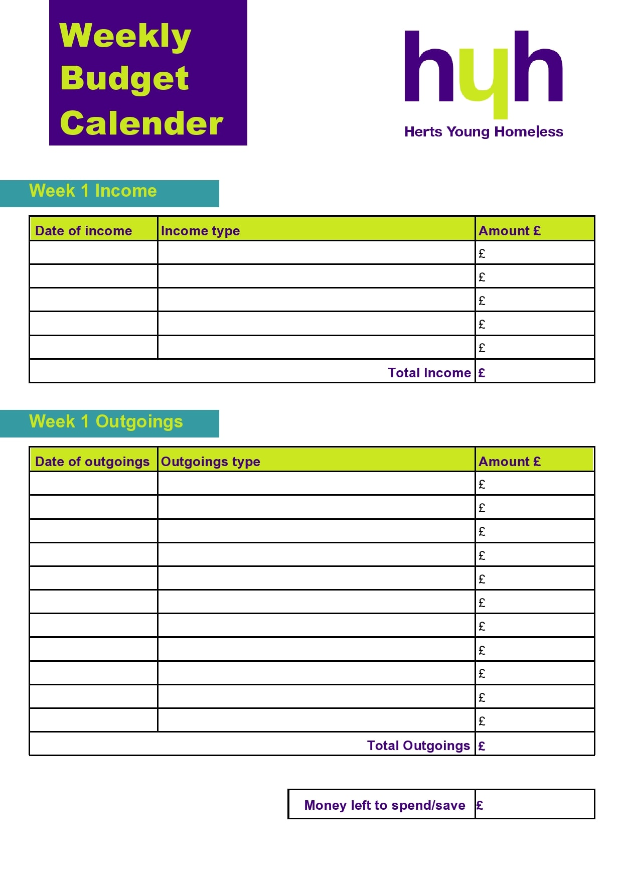 weekly budget template 10