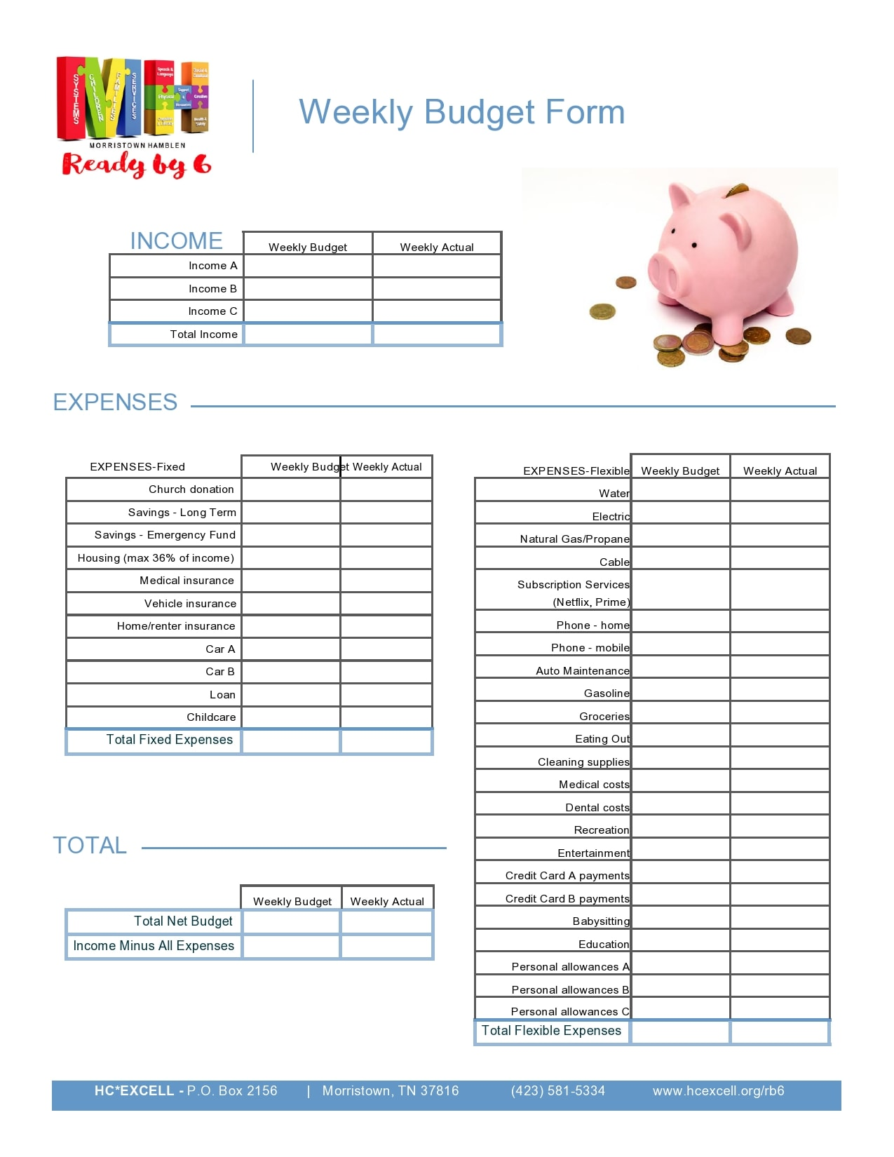 weekly budget template 12