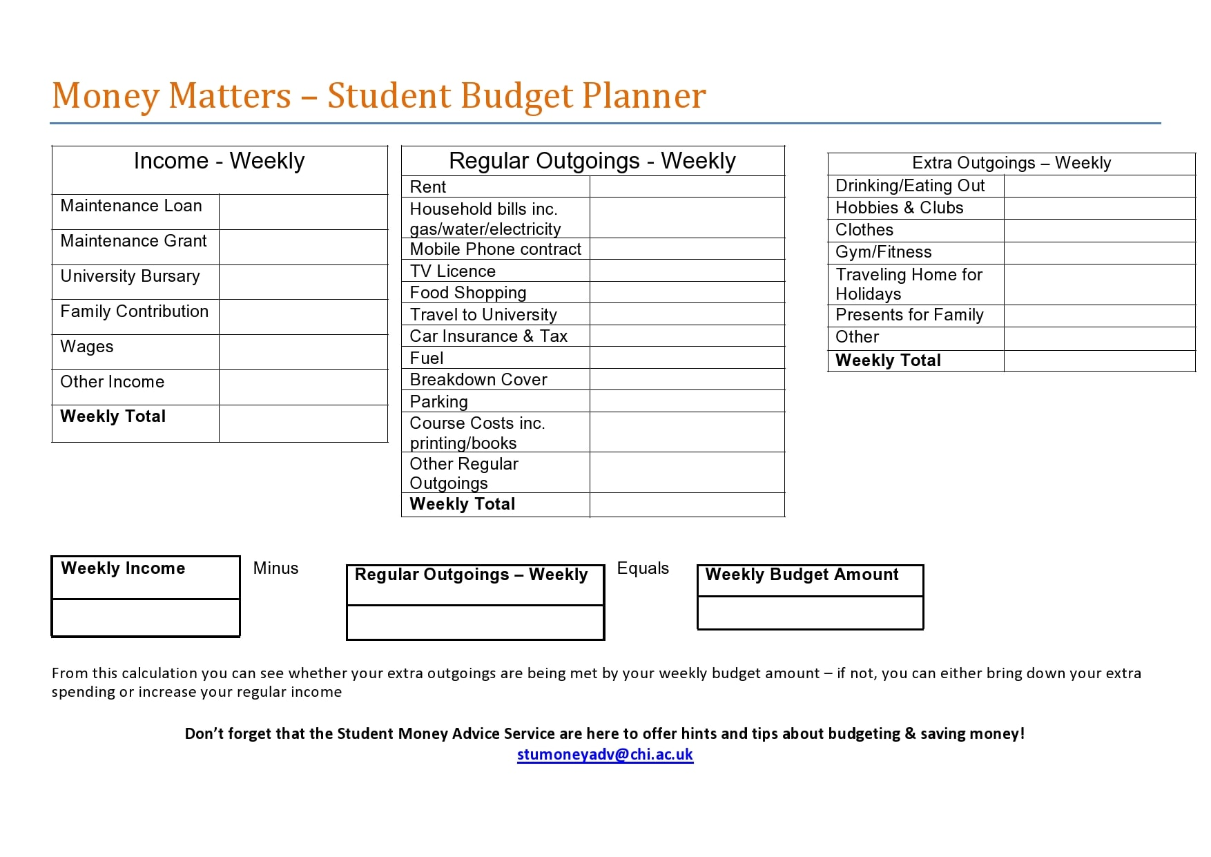 weekly budget template 21