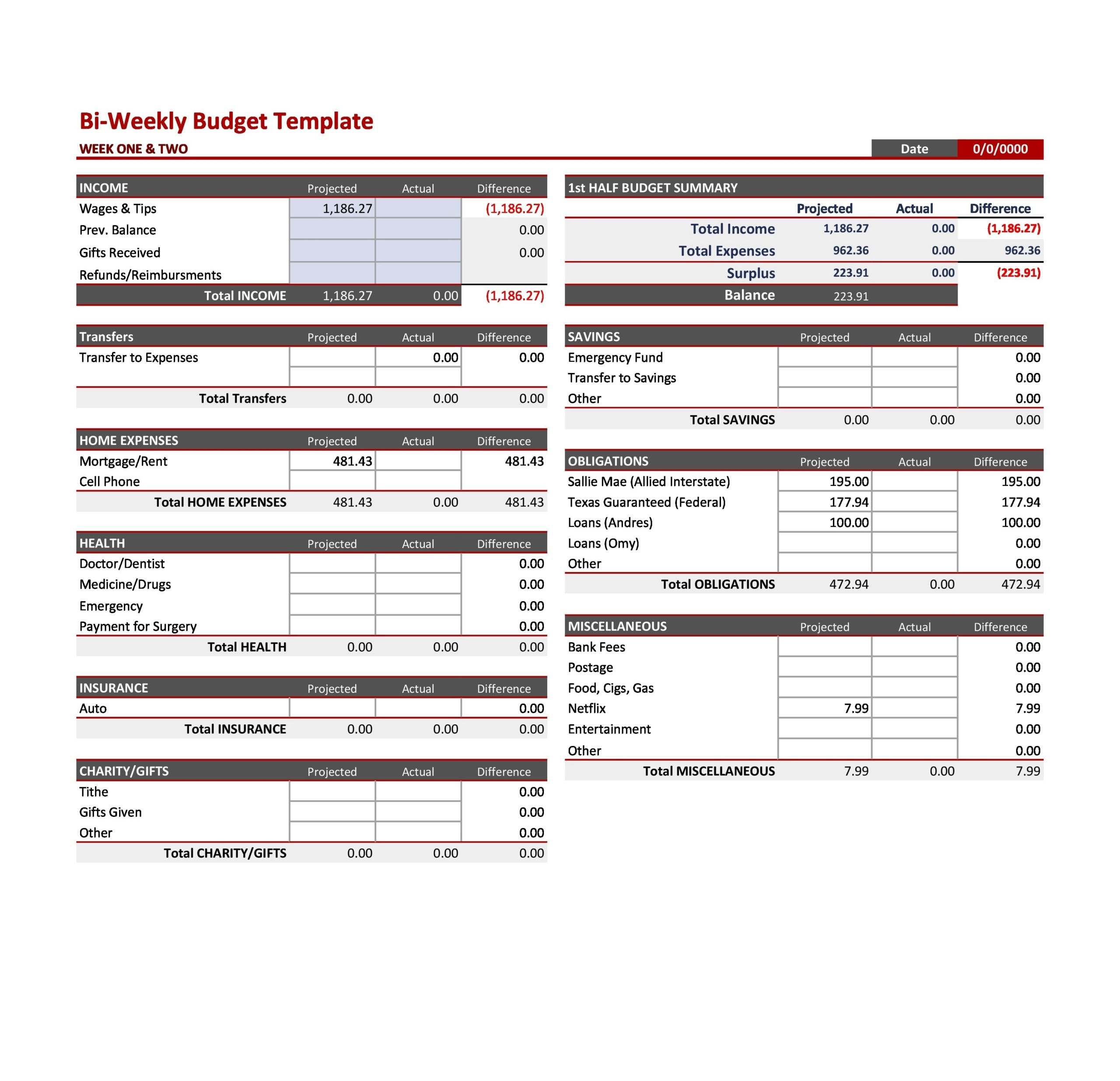 weekly budget template 27