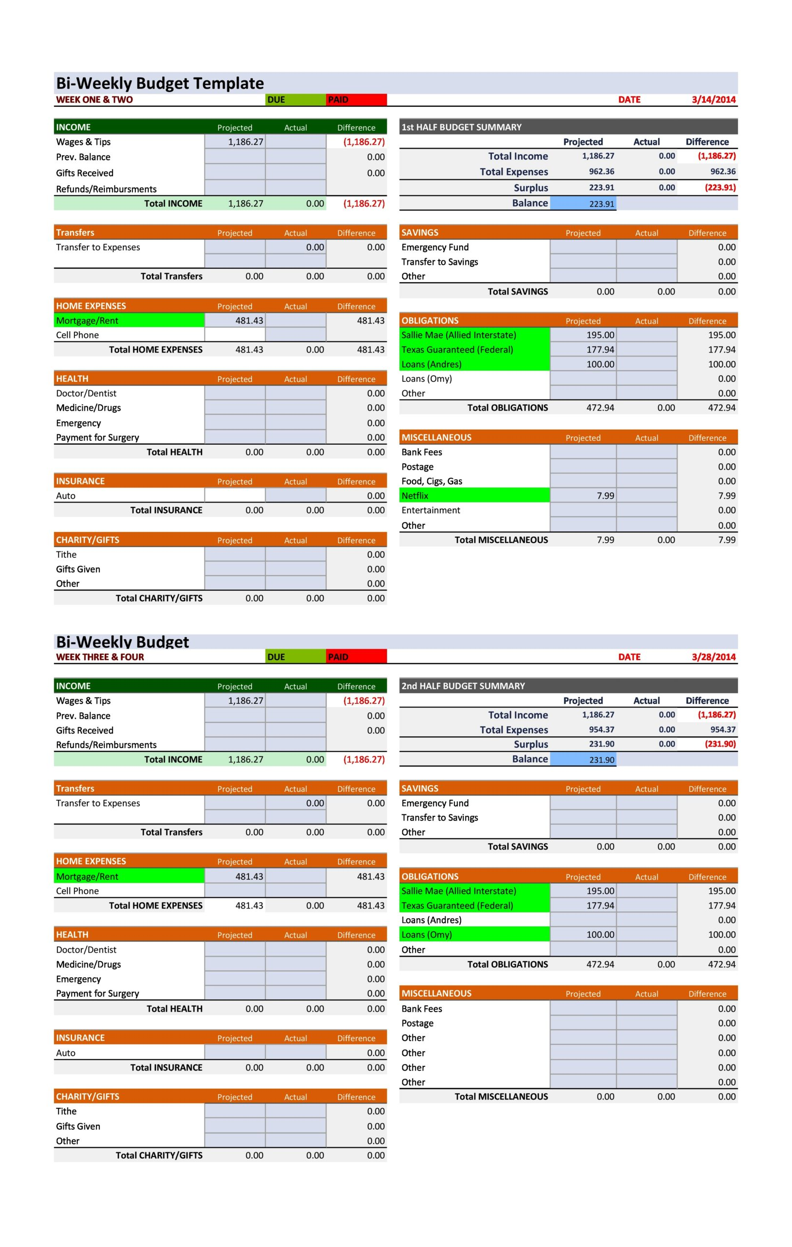 weekly budget template 29