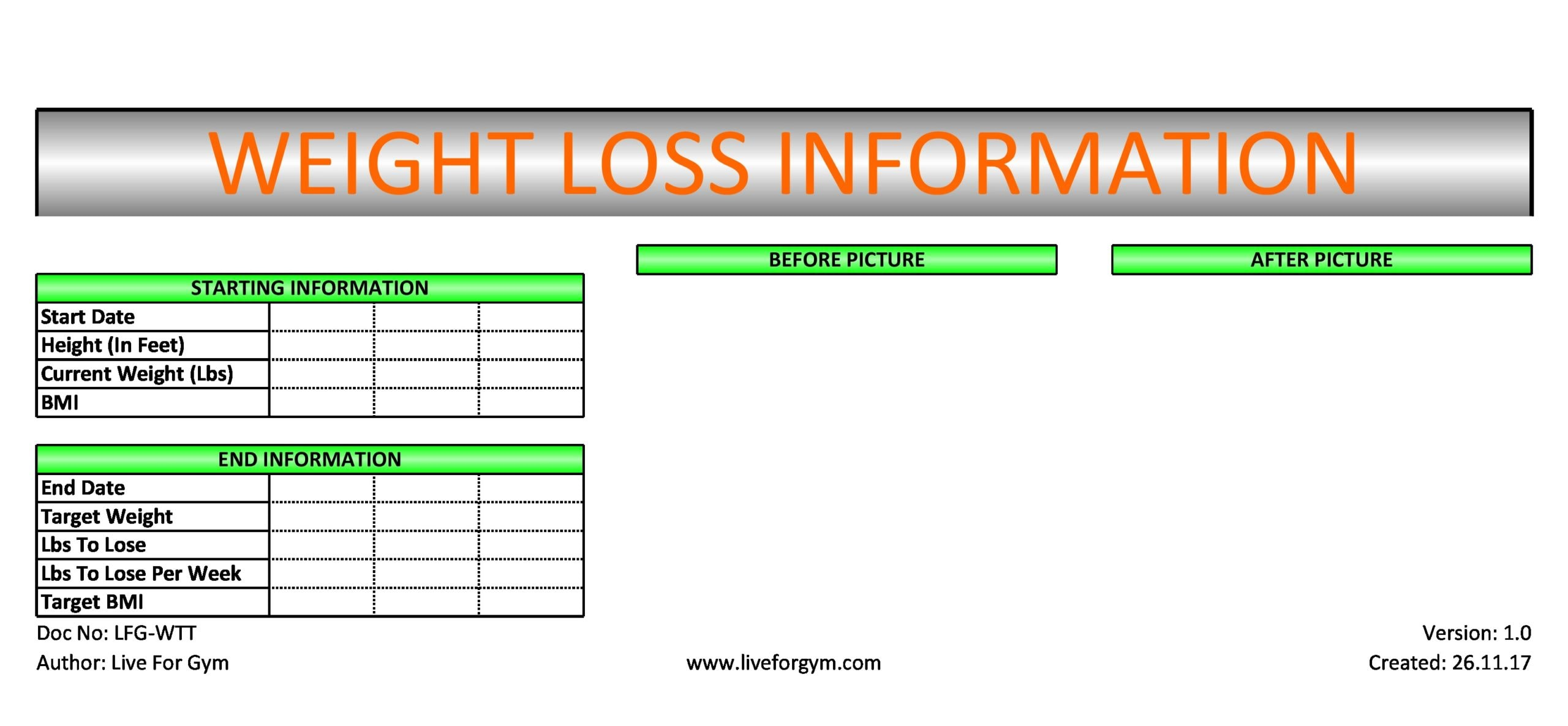 weight loss spreadsheet 06