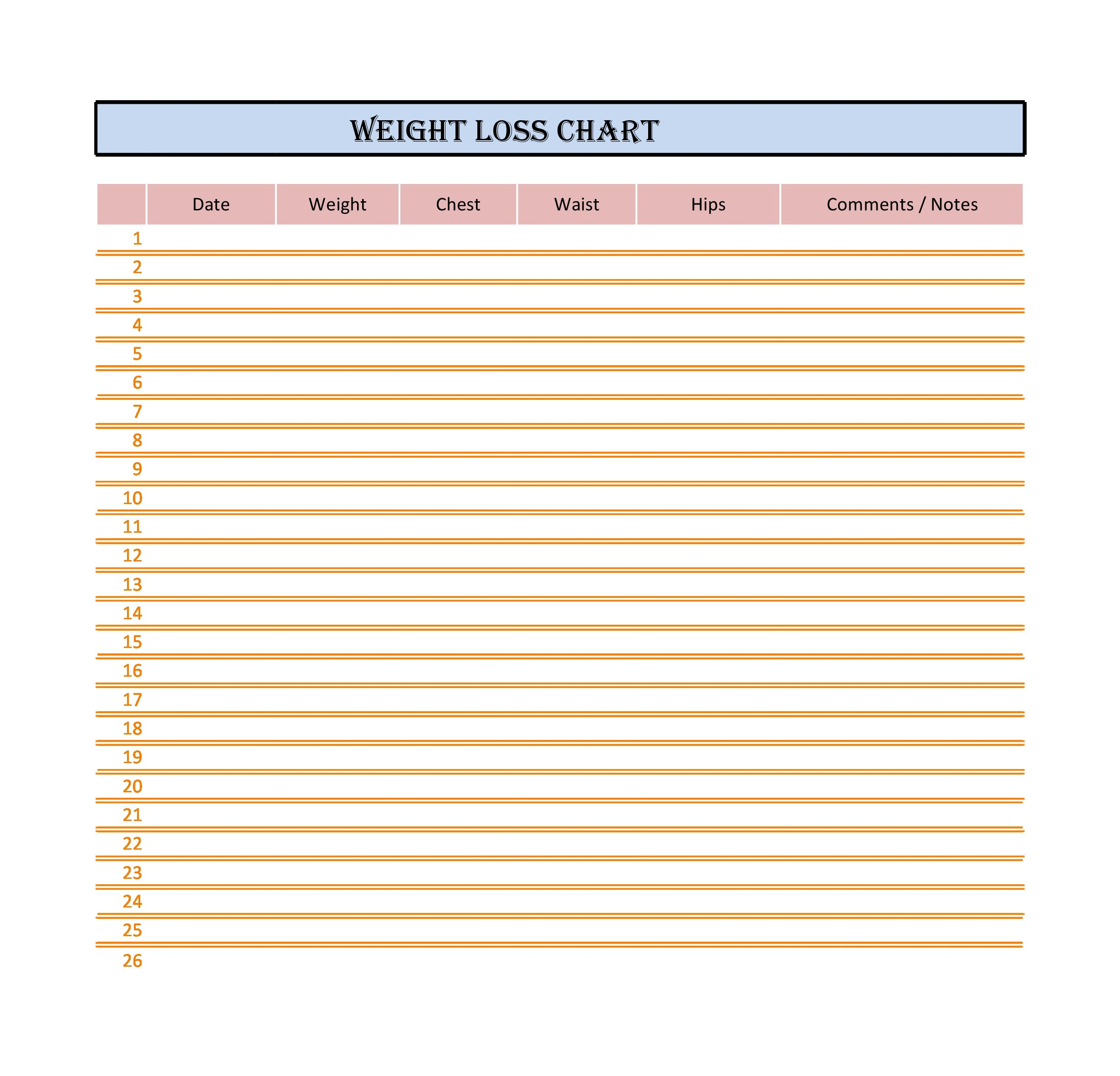weight loss spreadsheet 28