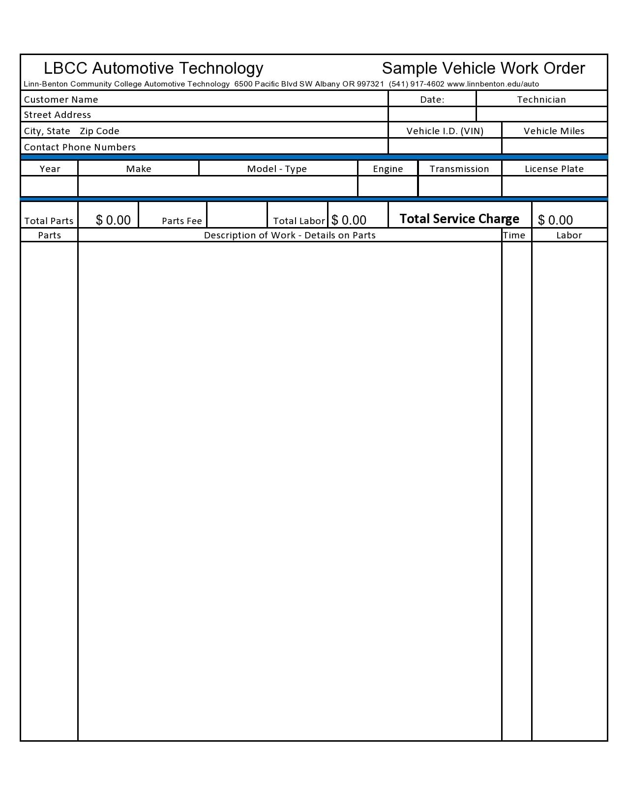 auto repair invoice 23