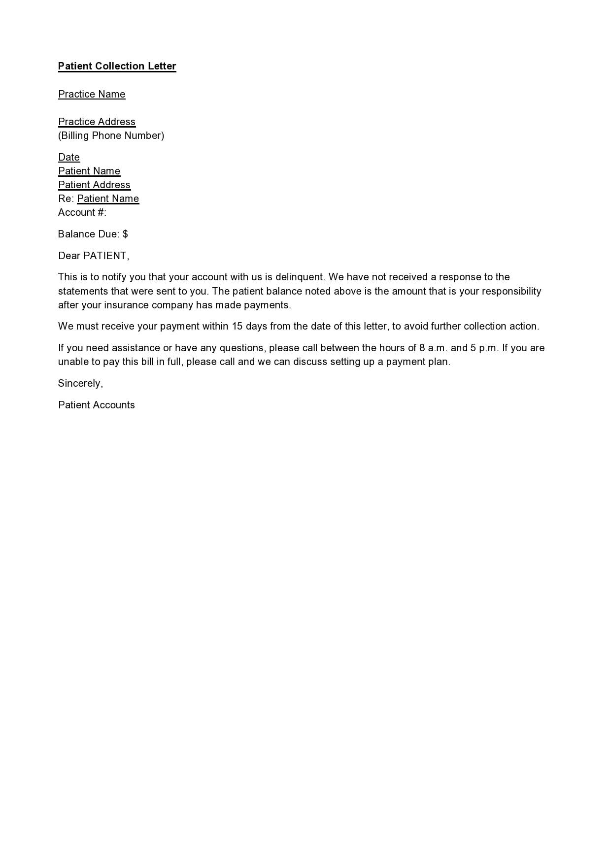 30 Best Debt Collection Letter Templates   TemplateArchive
