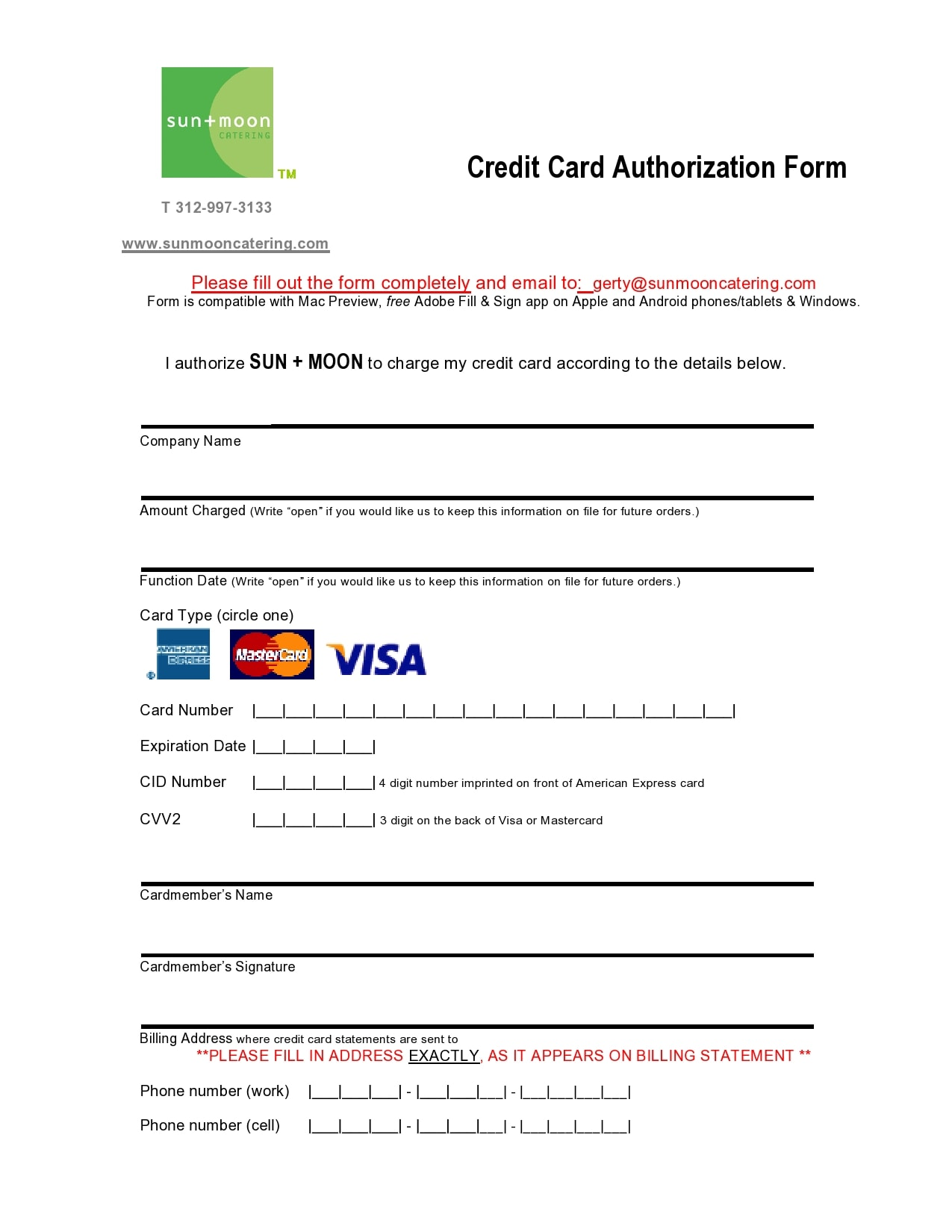 28 Best Credit Card Authorization Form Templates