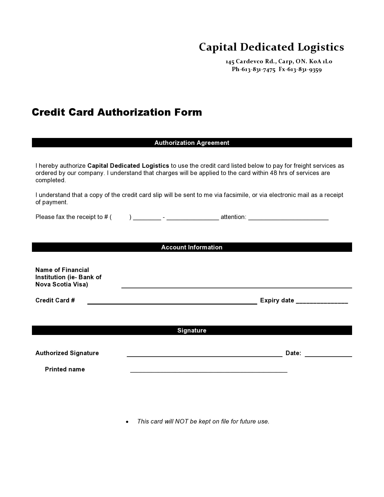 credit card authorization form template 07