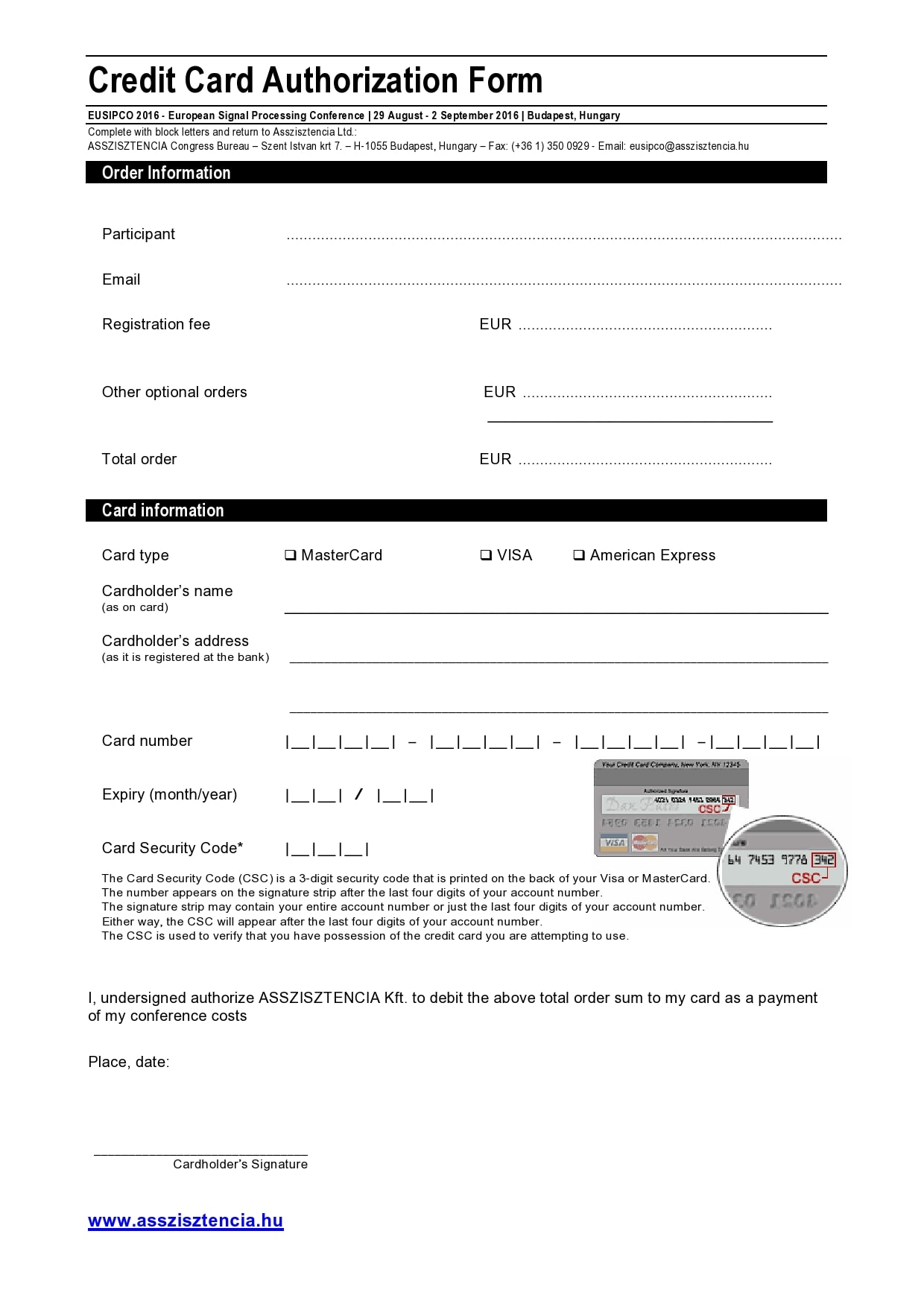 credit card authorization form template 12