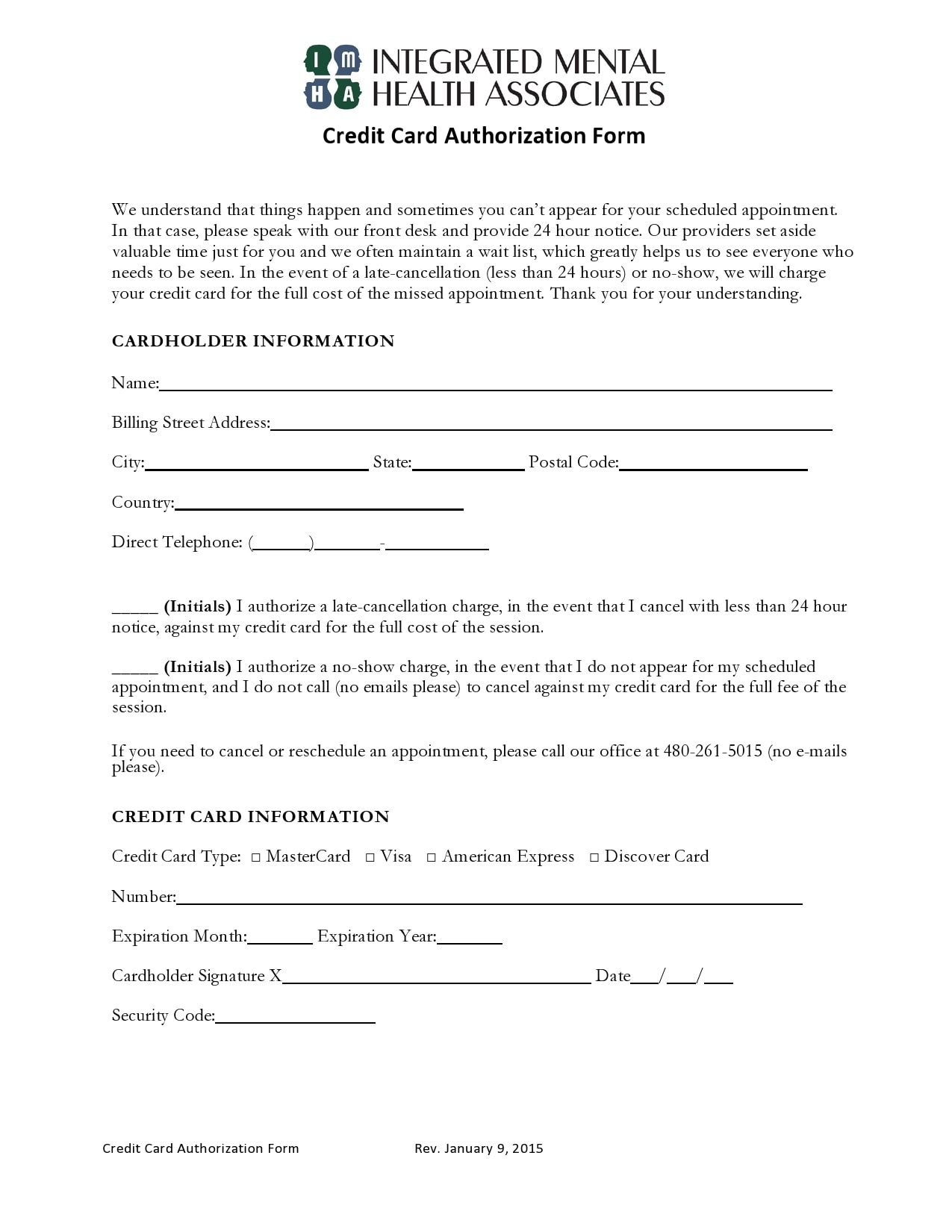 credit card authorization form template 24