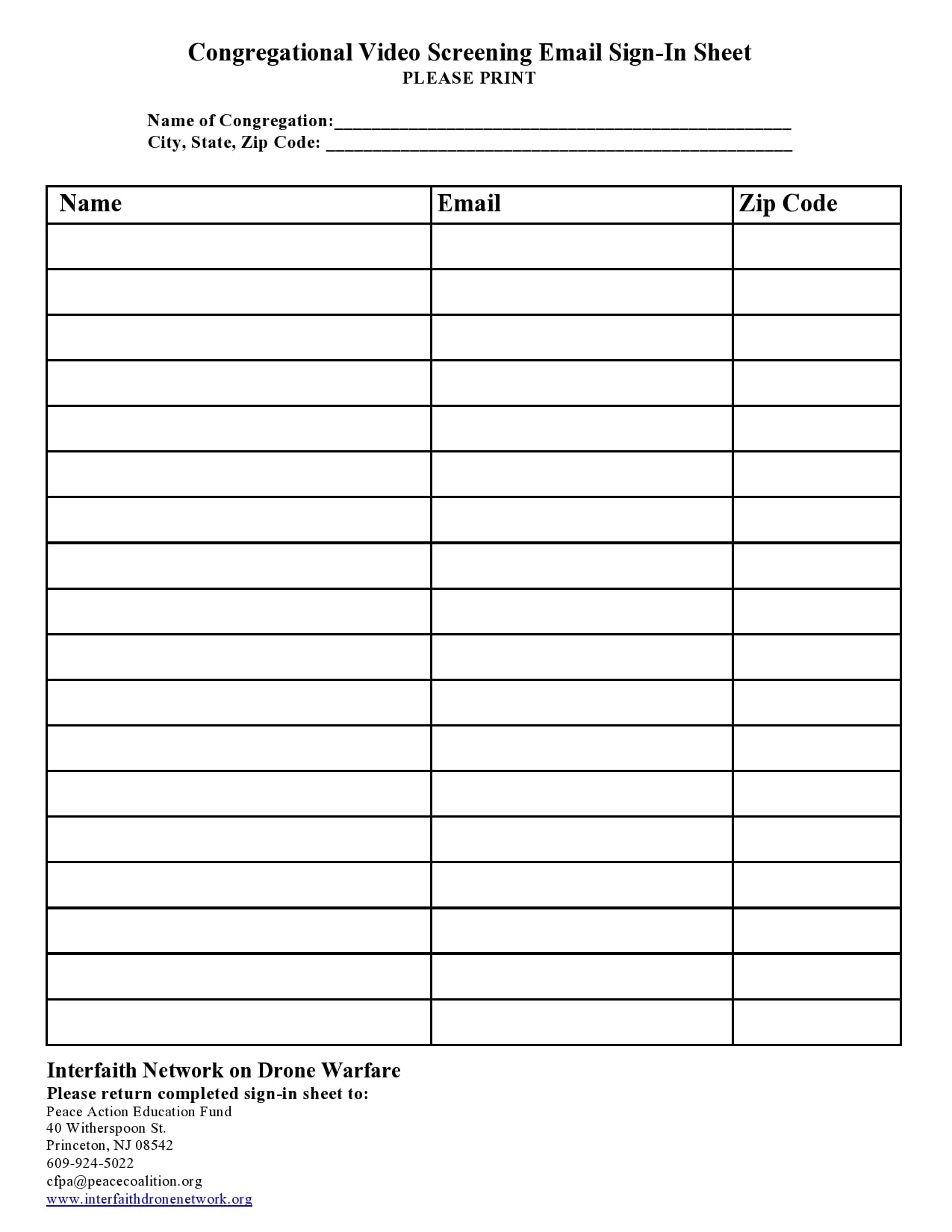 email sign up sheet 21