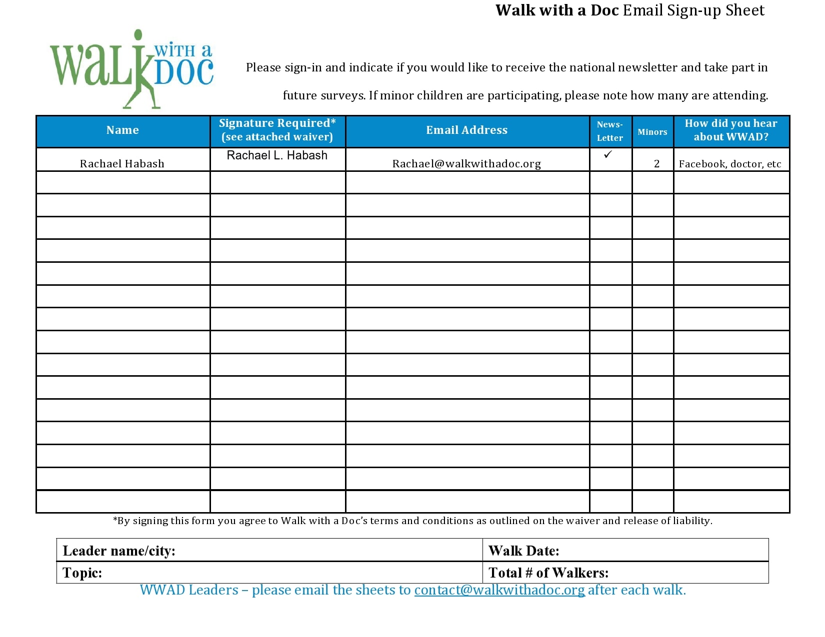 email sign up sheet 27