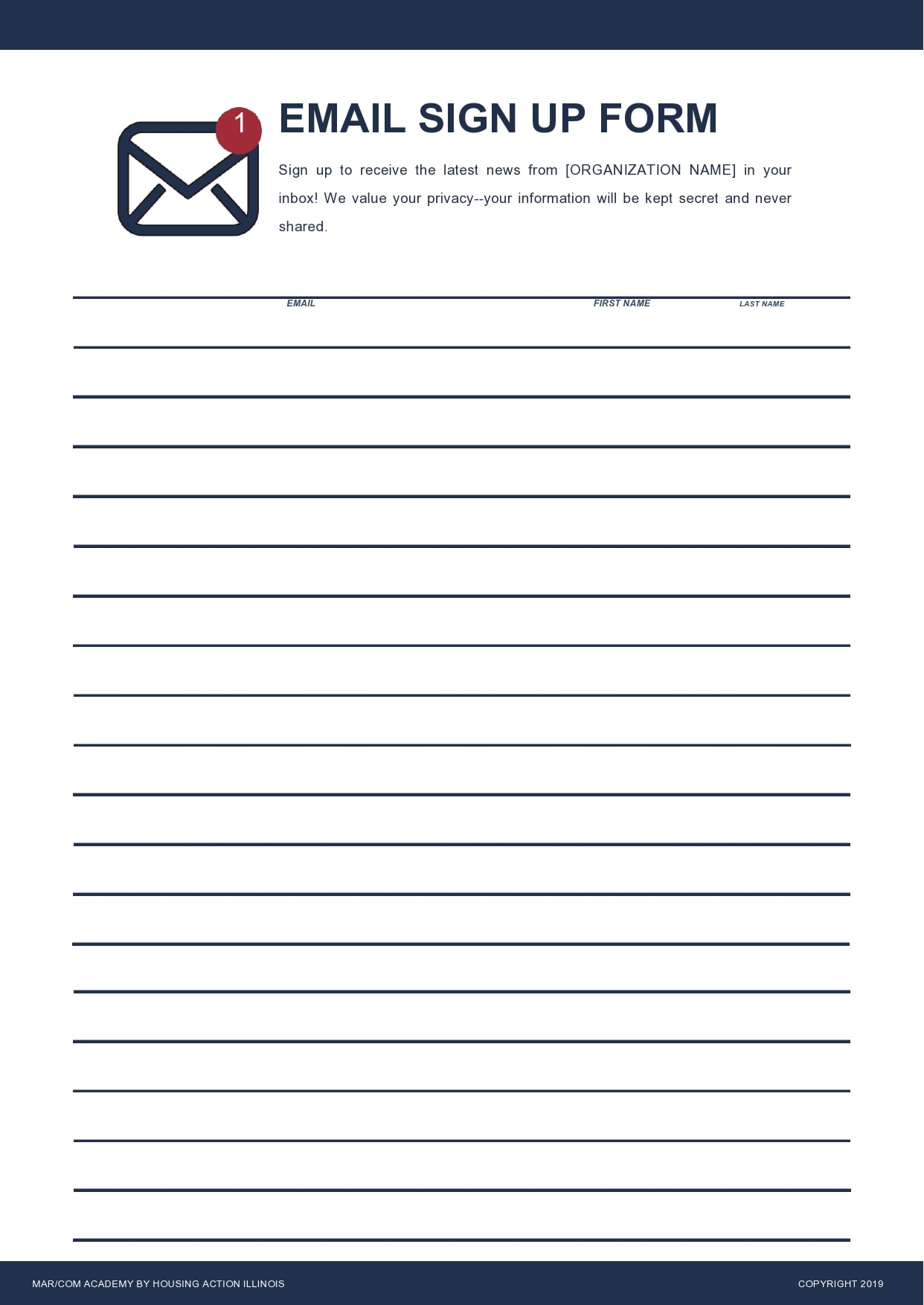 email sign up sheet 29