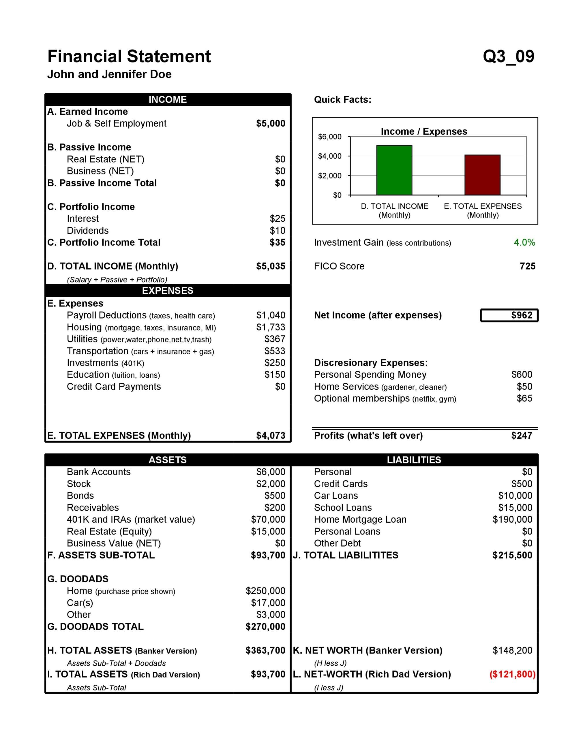 financial statement template 16