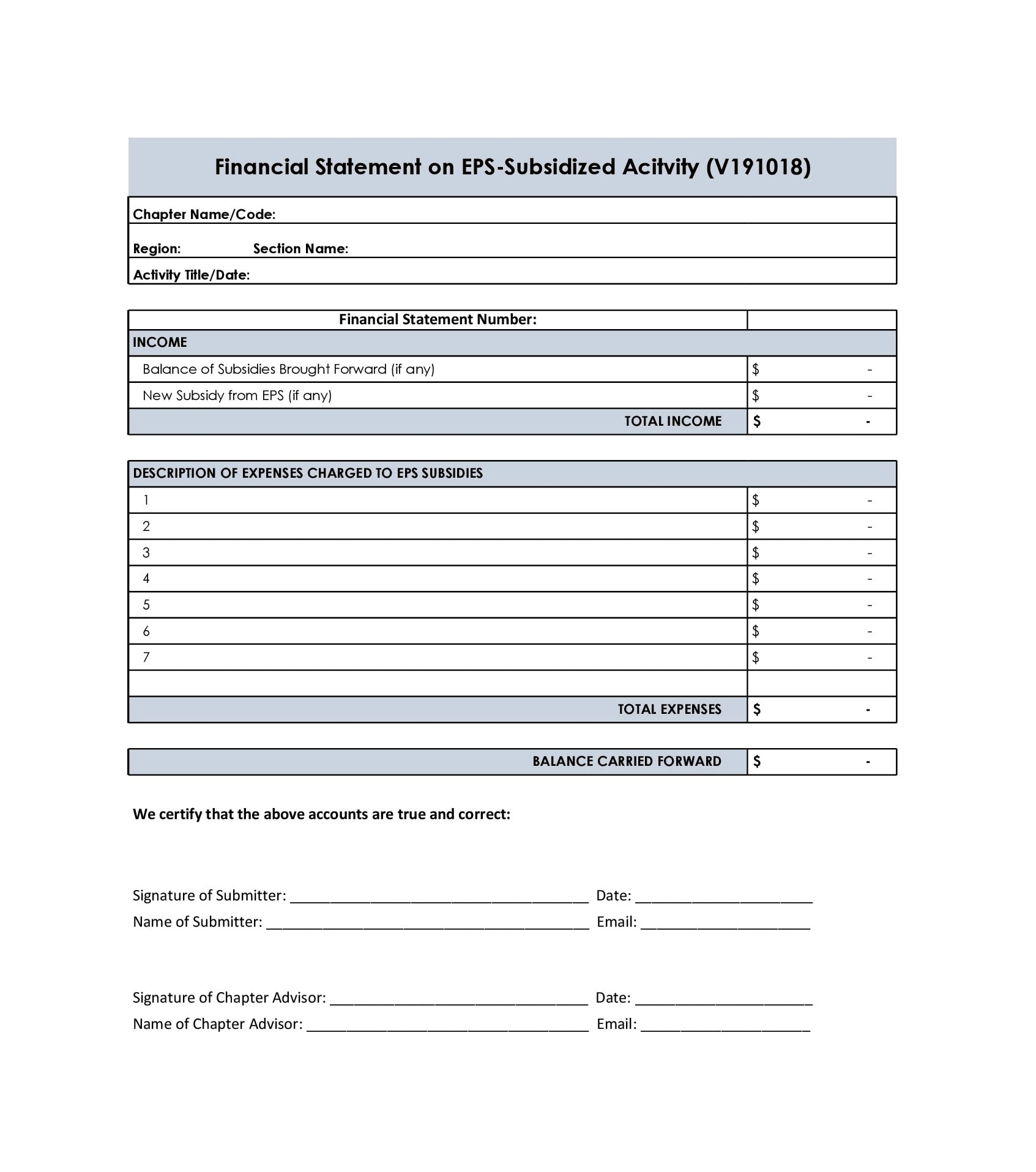 financial statement template 21
