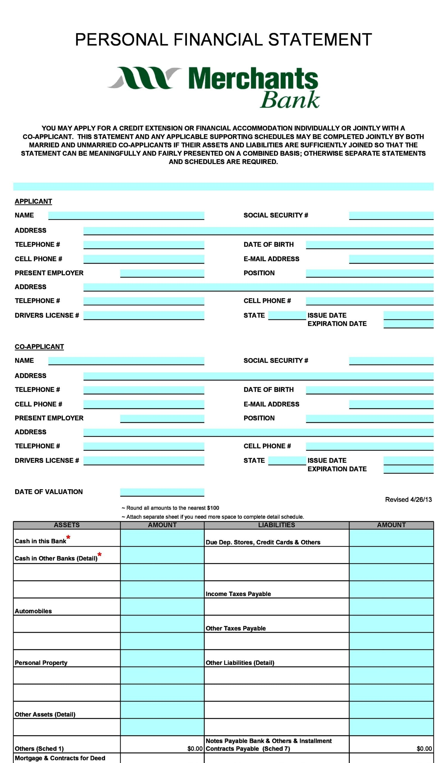 financial statement template 24