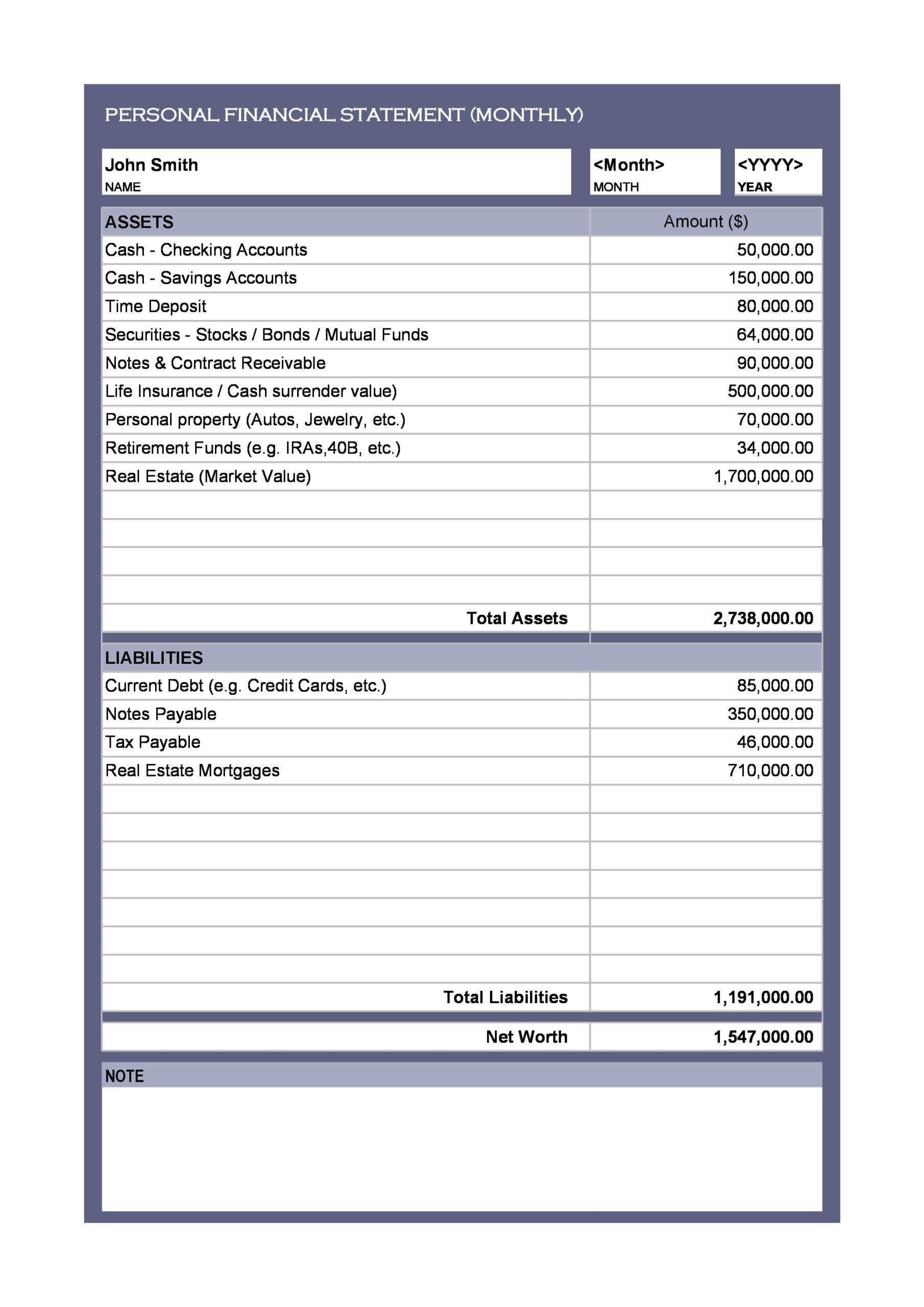 financial statement template 26