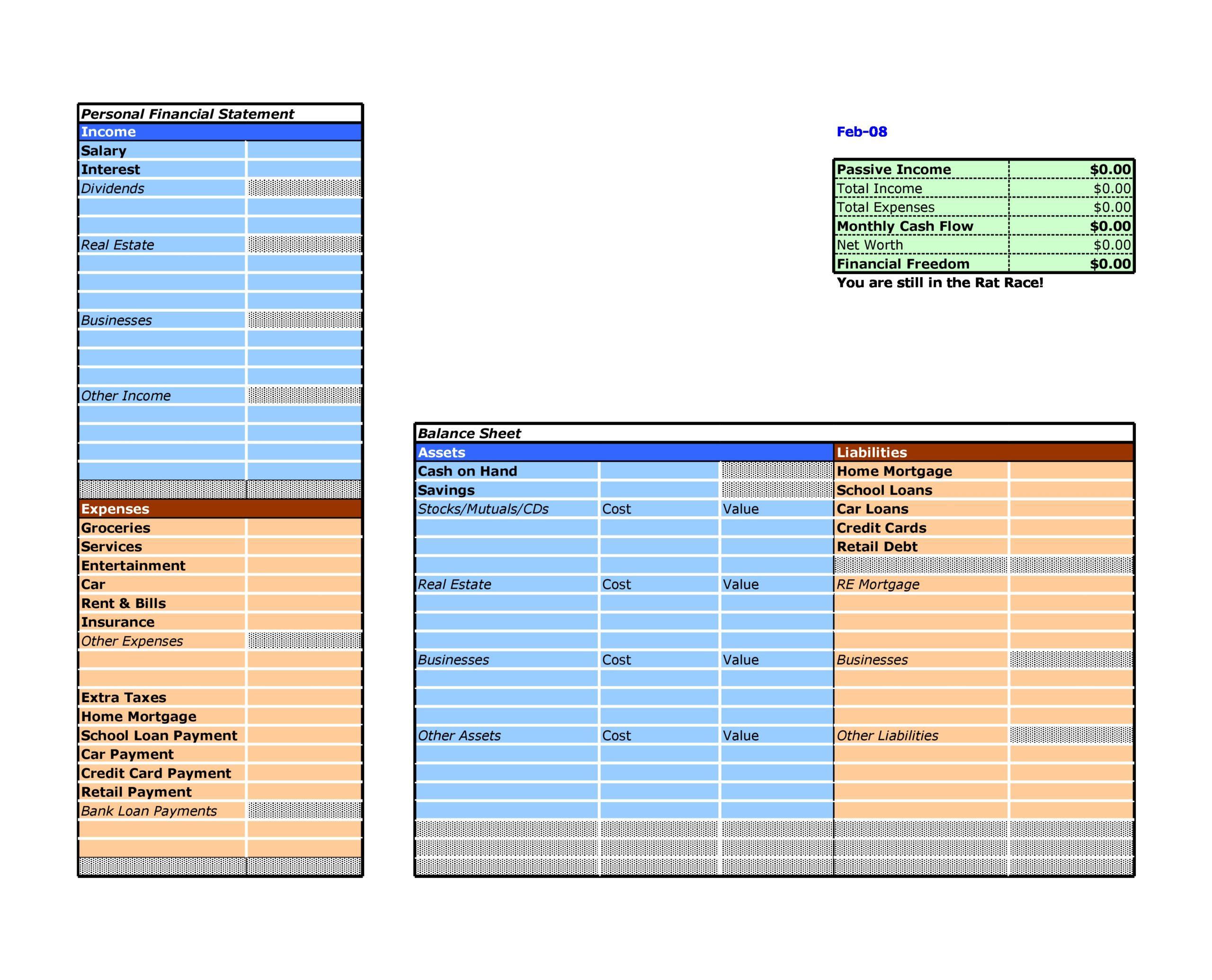 financial statement template 29