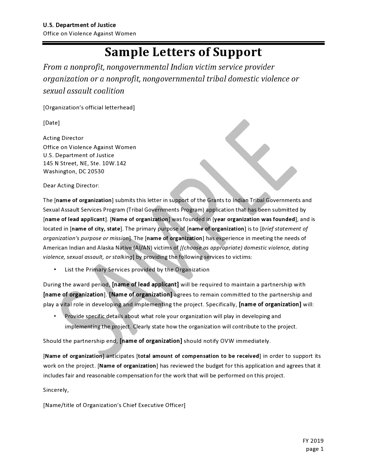letter of support template 23