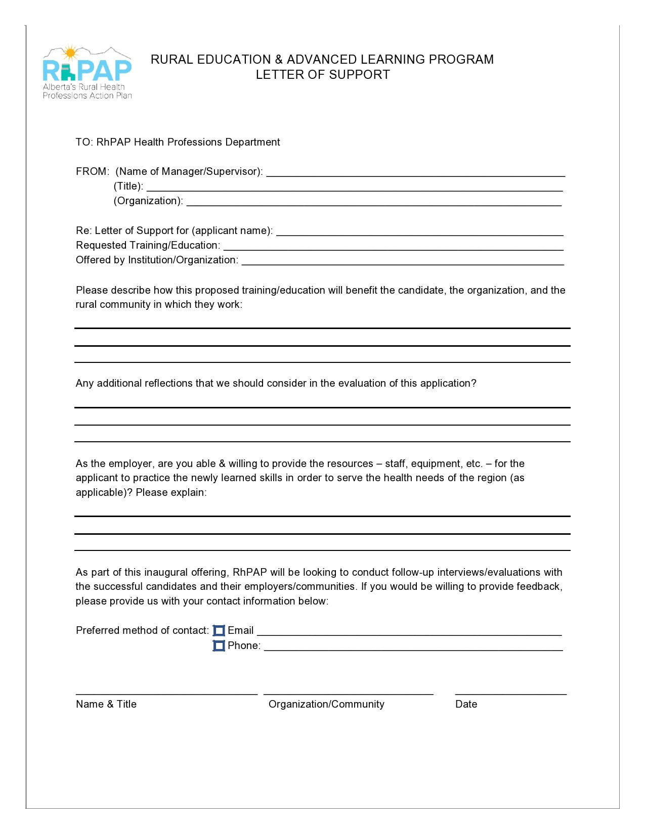 letter of support template 28