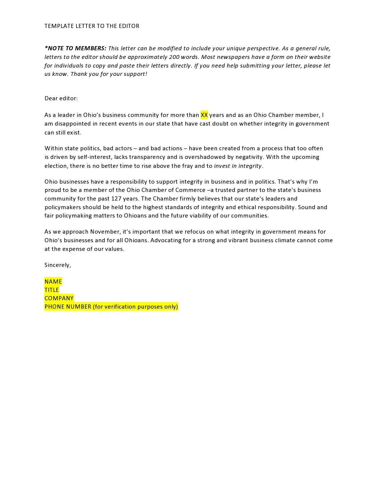 letter to the editor template 25