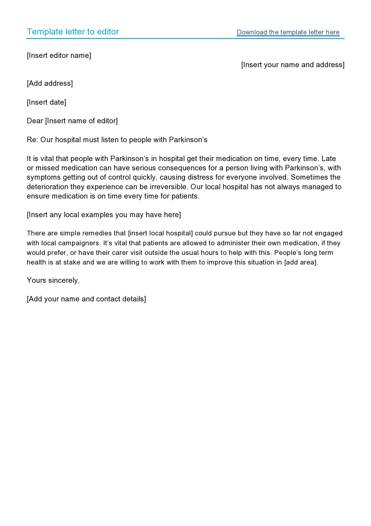 letter to the editor template 26