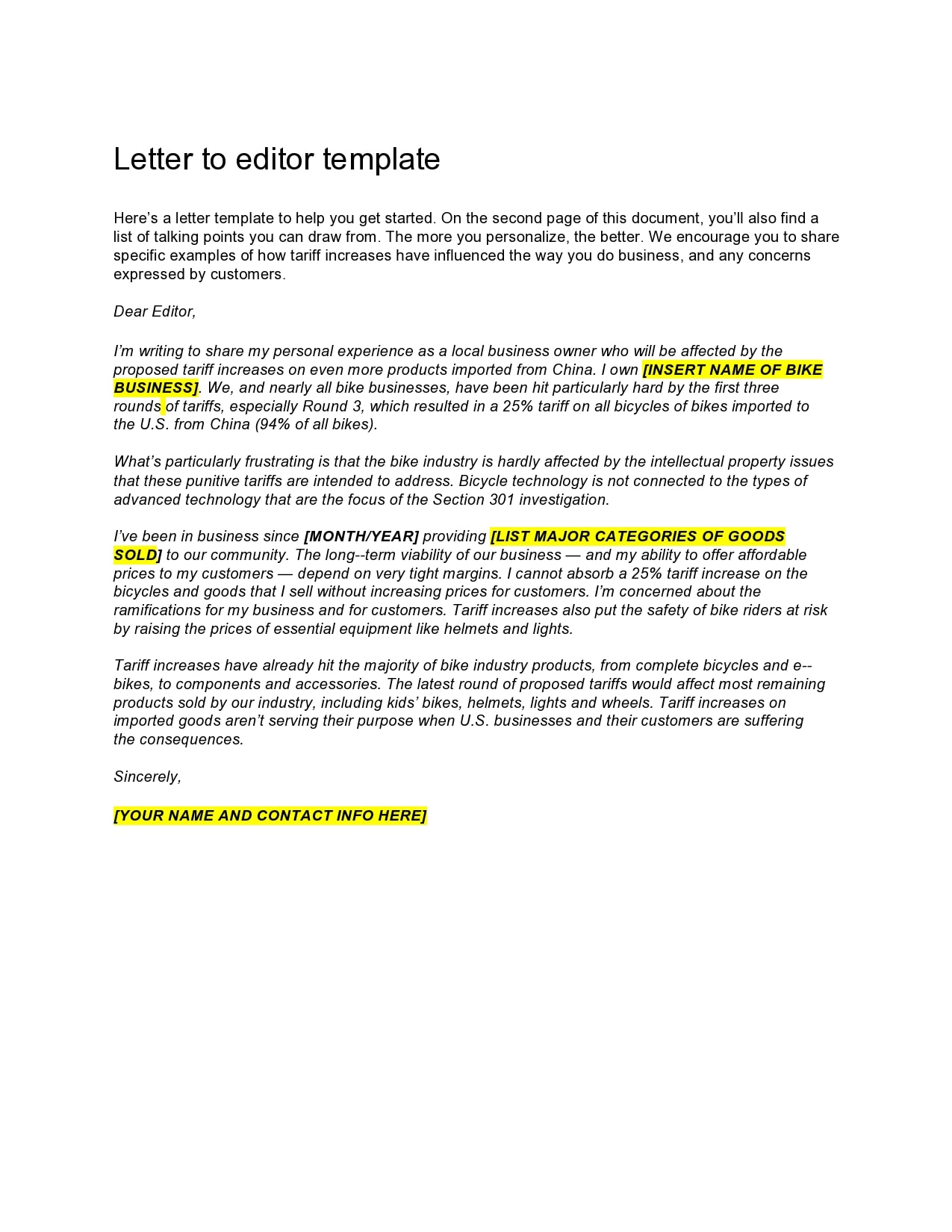letter to the editor template 28