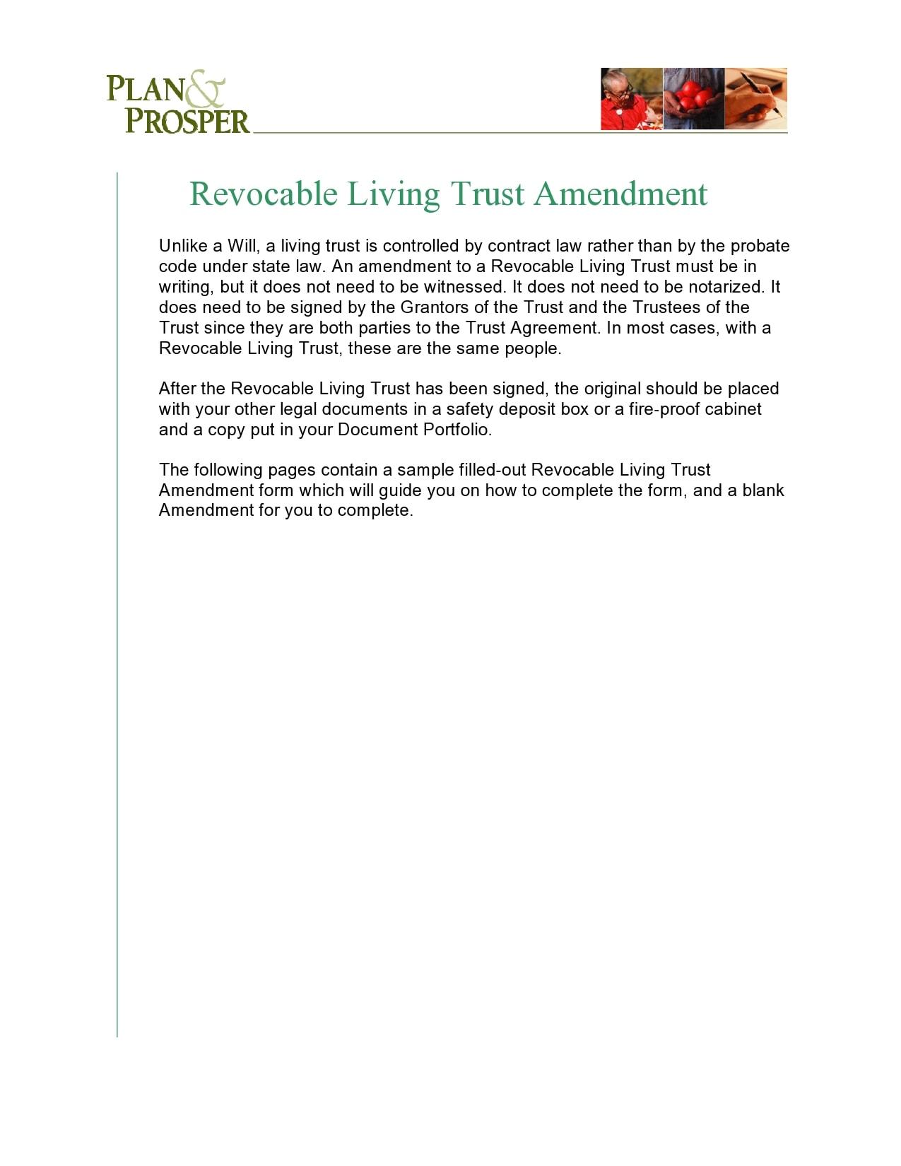 living trust form 30