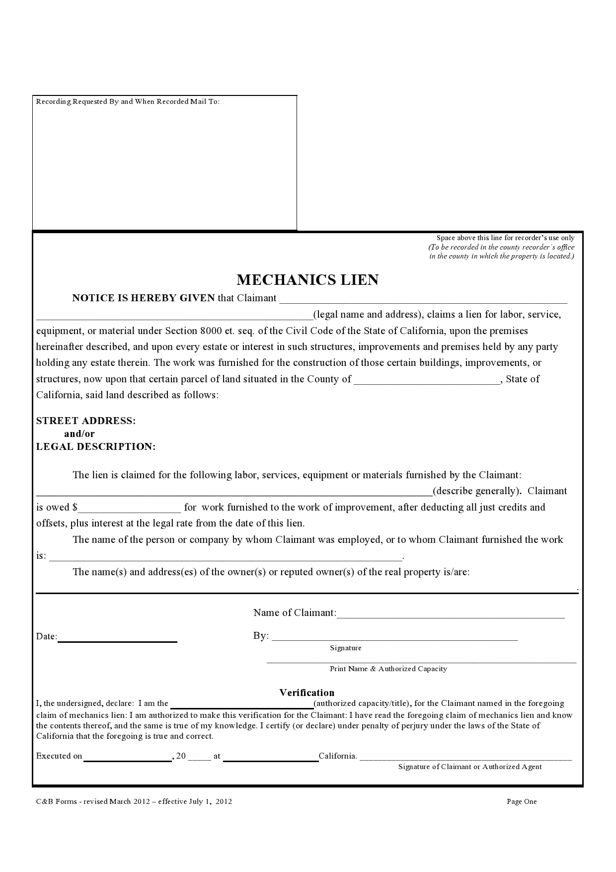 mechanics lien form 01