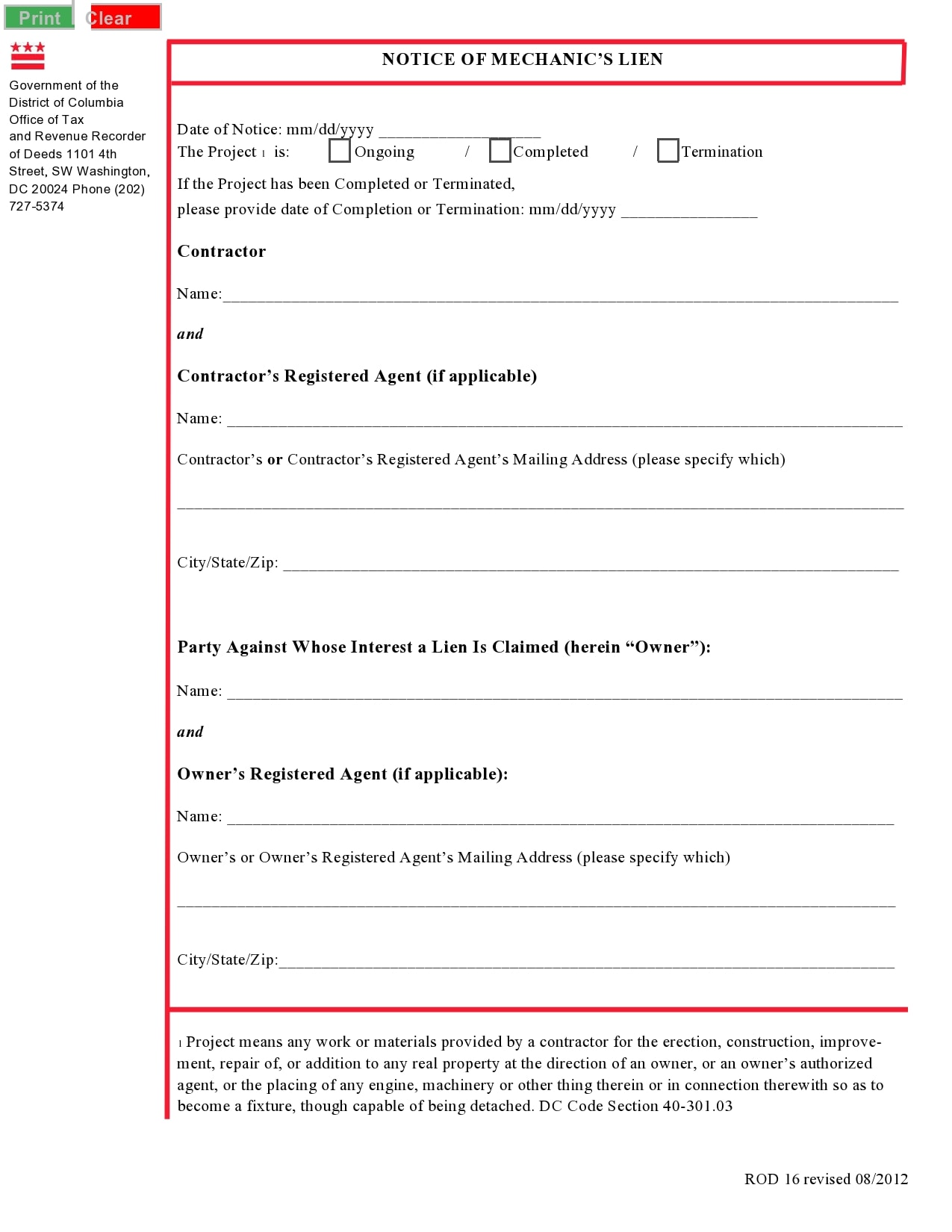 mechanics lien form 07