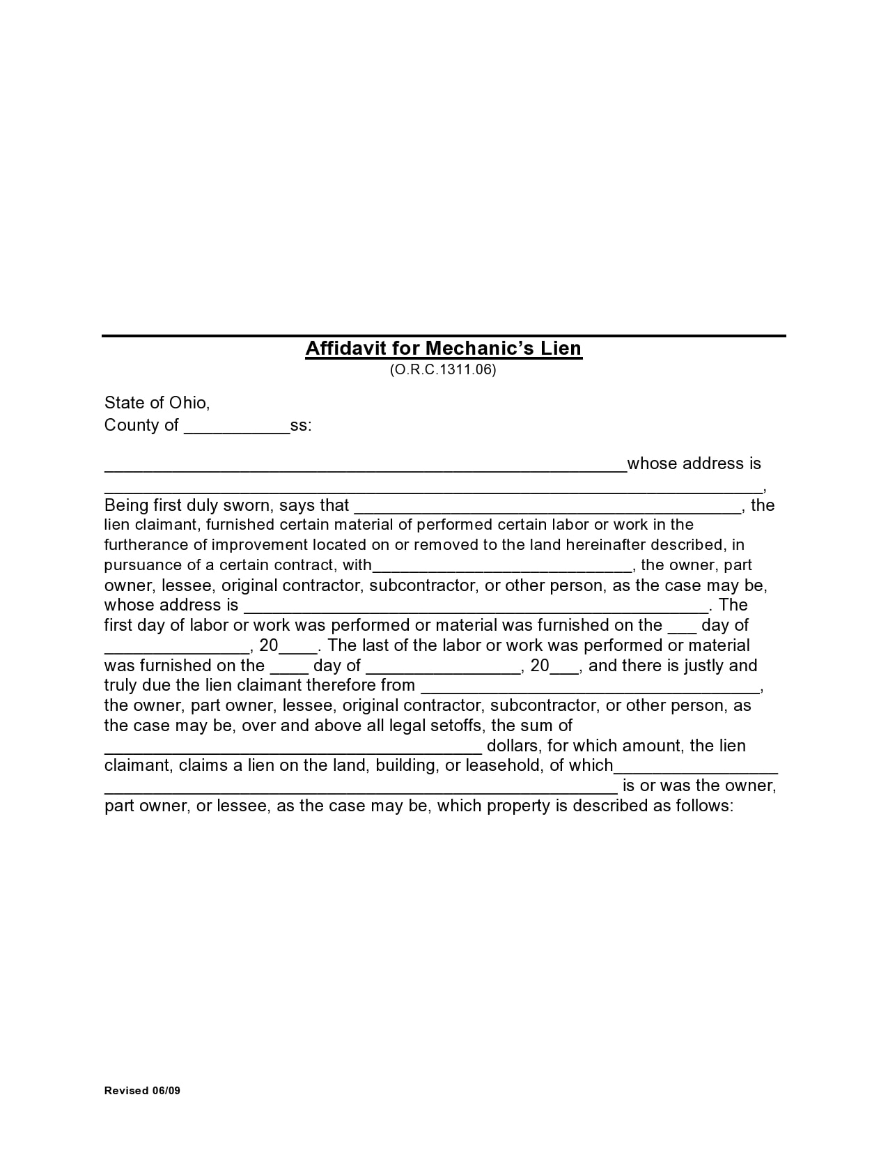 mechanics lien form 24