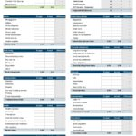 monthly expenses template 22