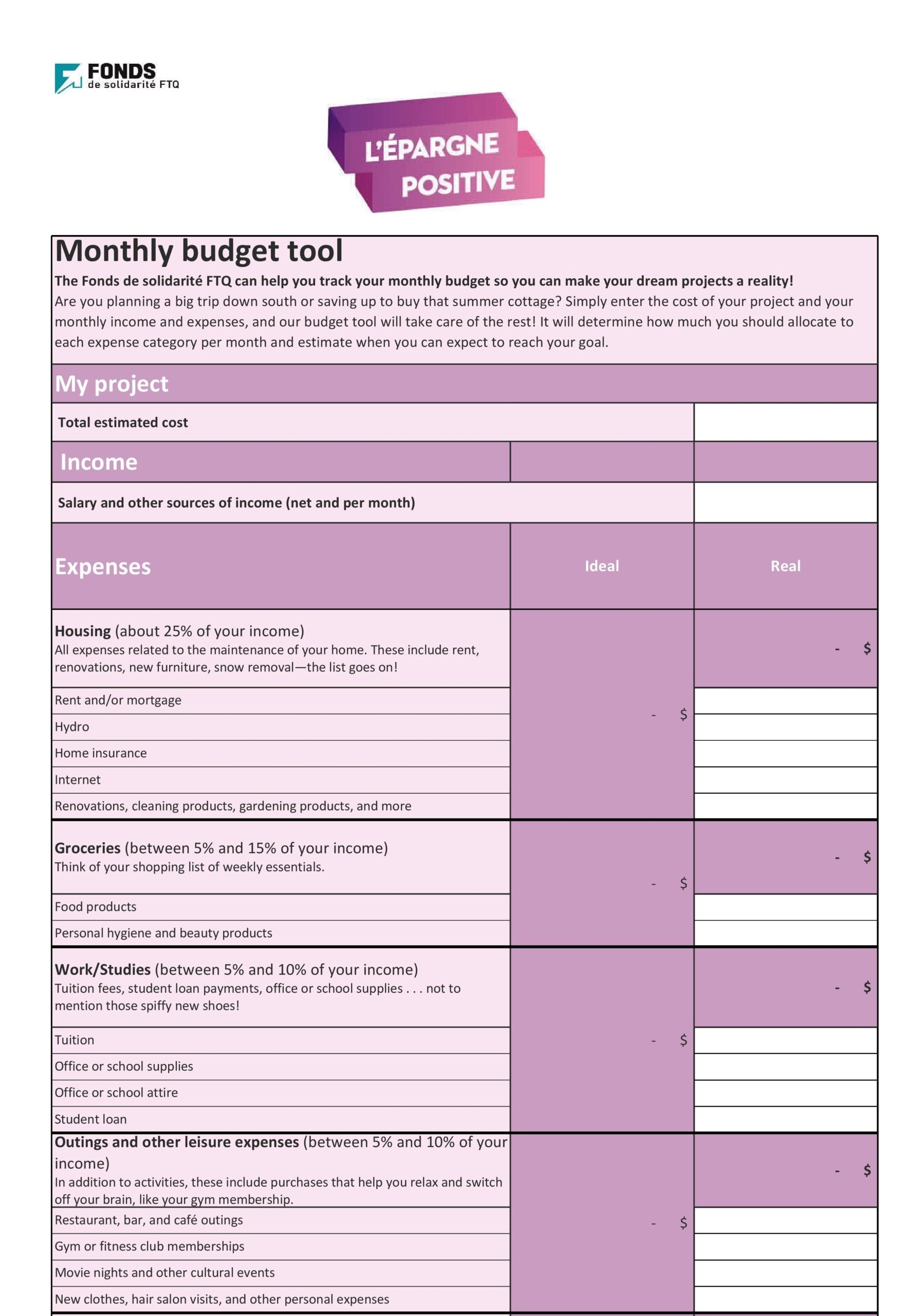 monthly expenses template 27