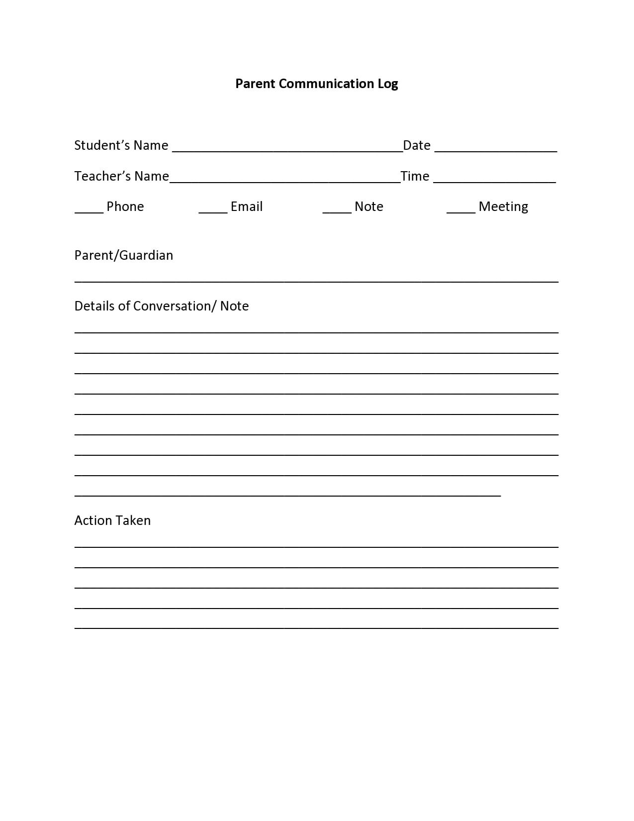 parent communication log 13