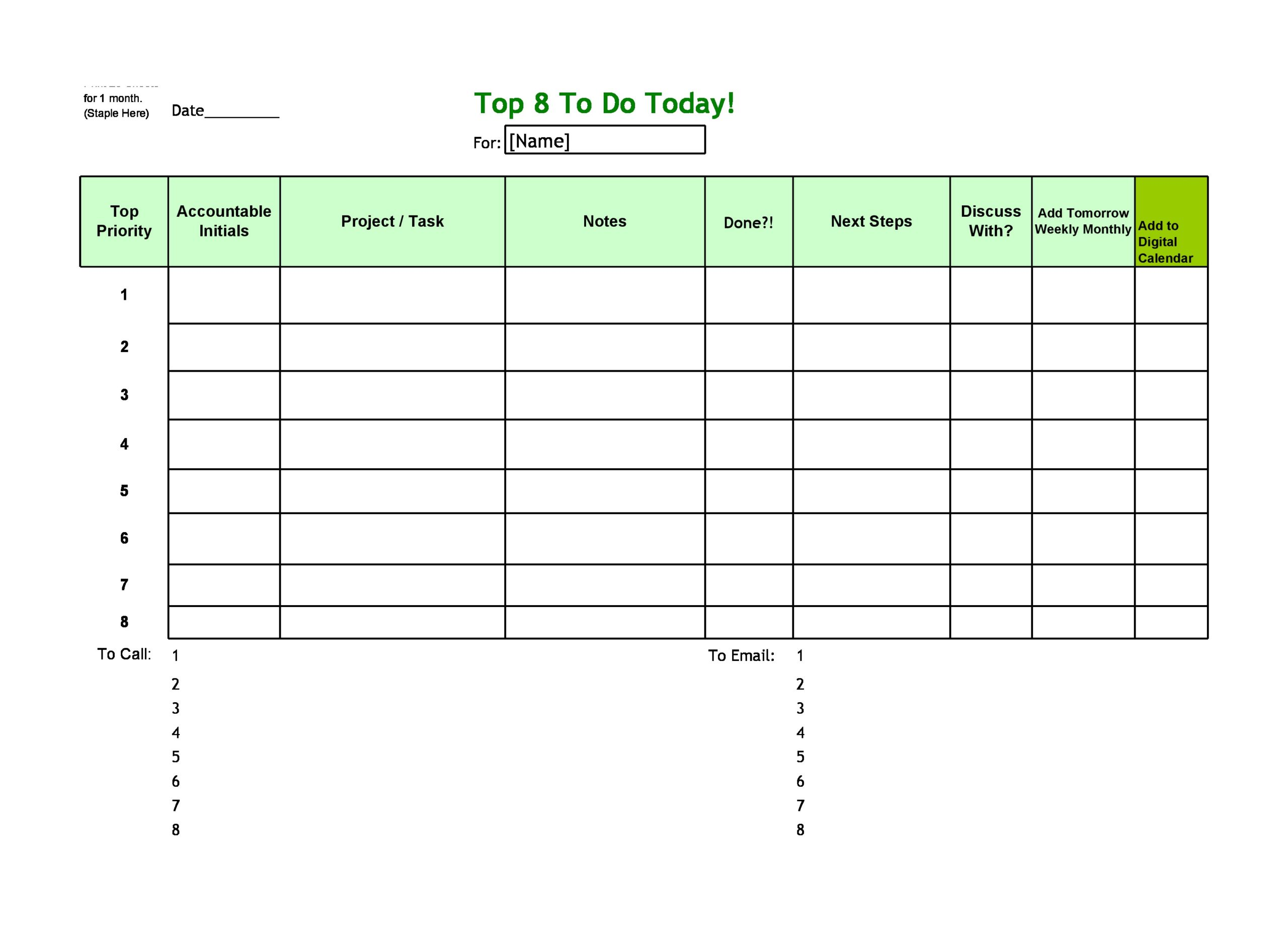 to do list template 18
